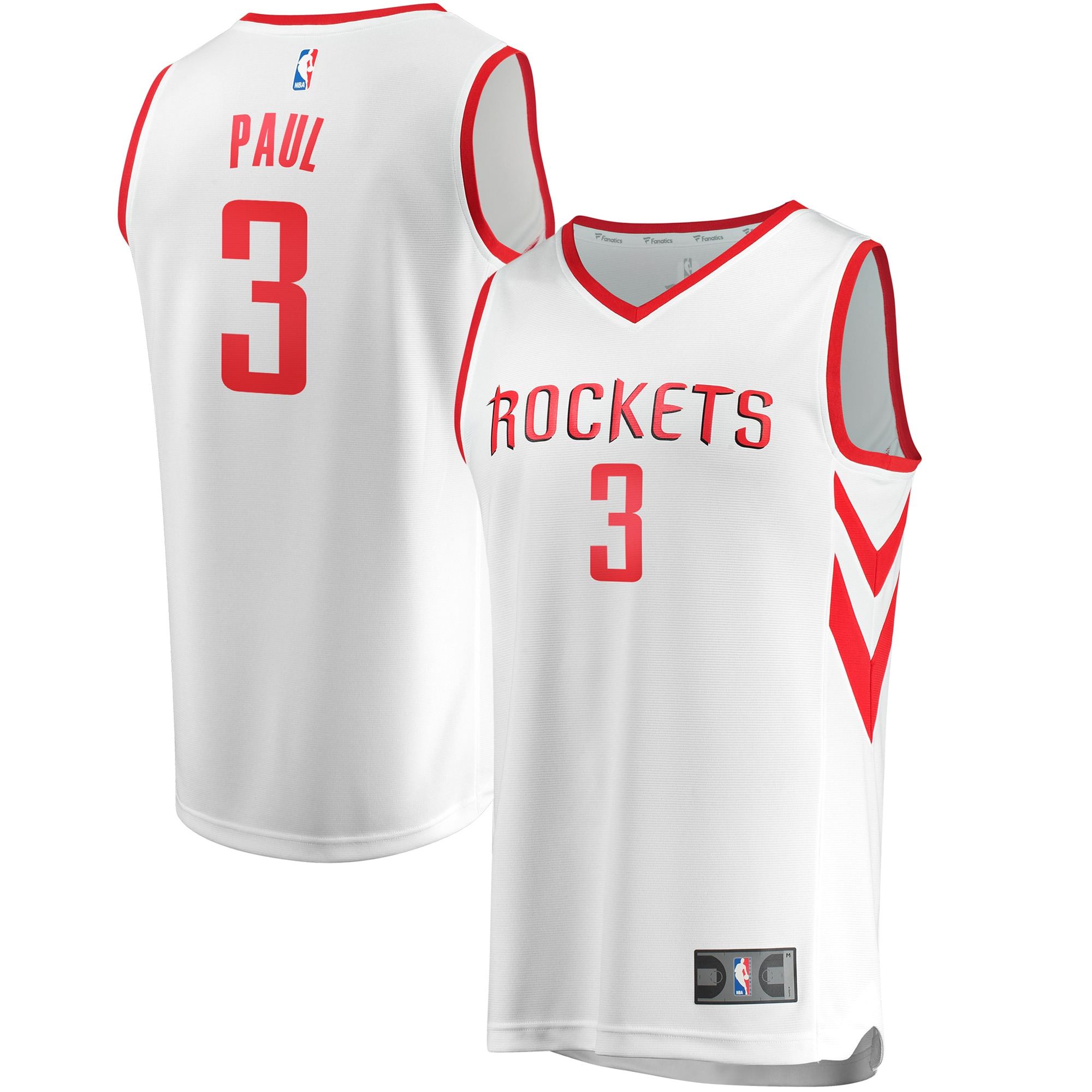 Chris Paul Houston Rockets Fanatics Branded Fast Break Replica Jersey White - Association Edition