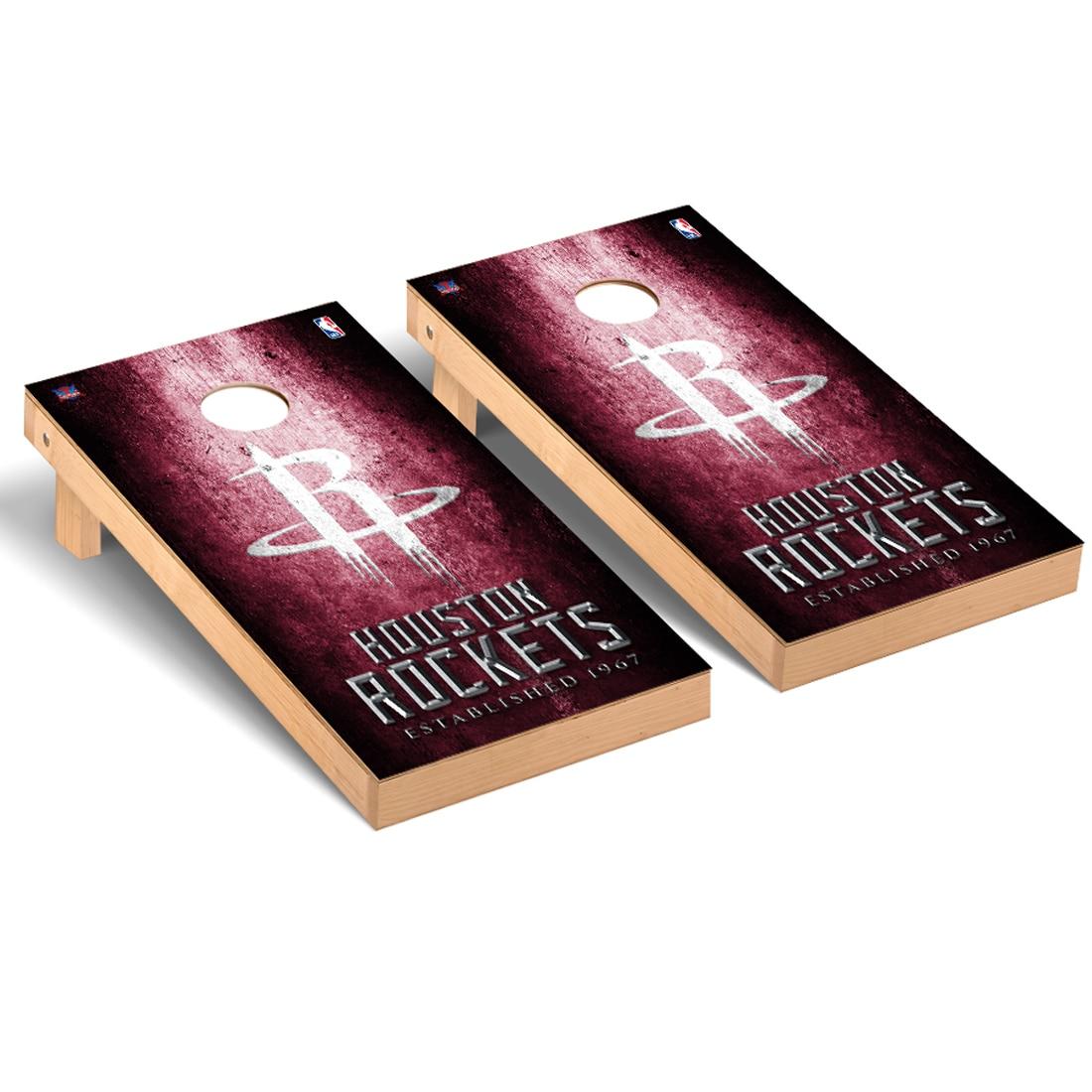 Houston Rockets 2' x 4' Metal Museum Cornhole Board Tailgate Toss Set