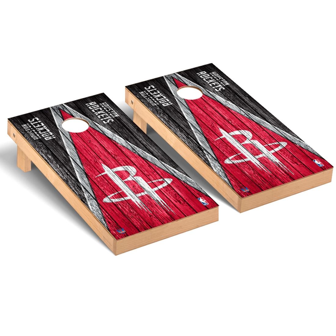 Houston Rockets 2' x 4' Weathered Museum Cornhole Board Tailgate Toss Set