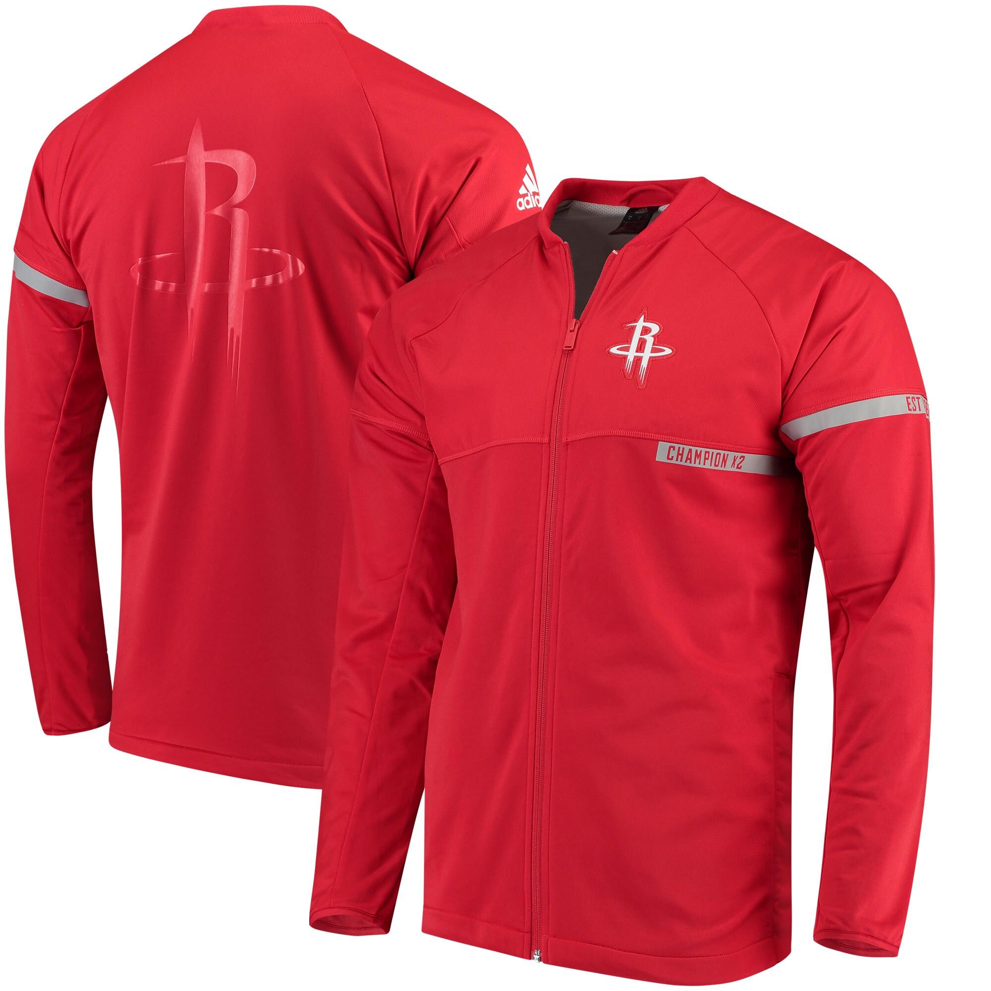 Houston Rockets adidas 2016 On-Court Jacket - Red