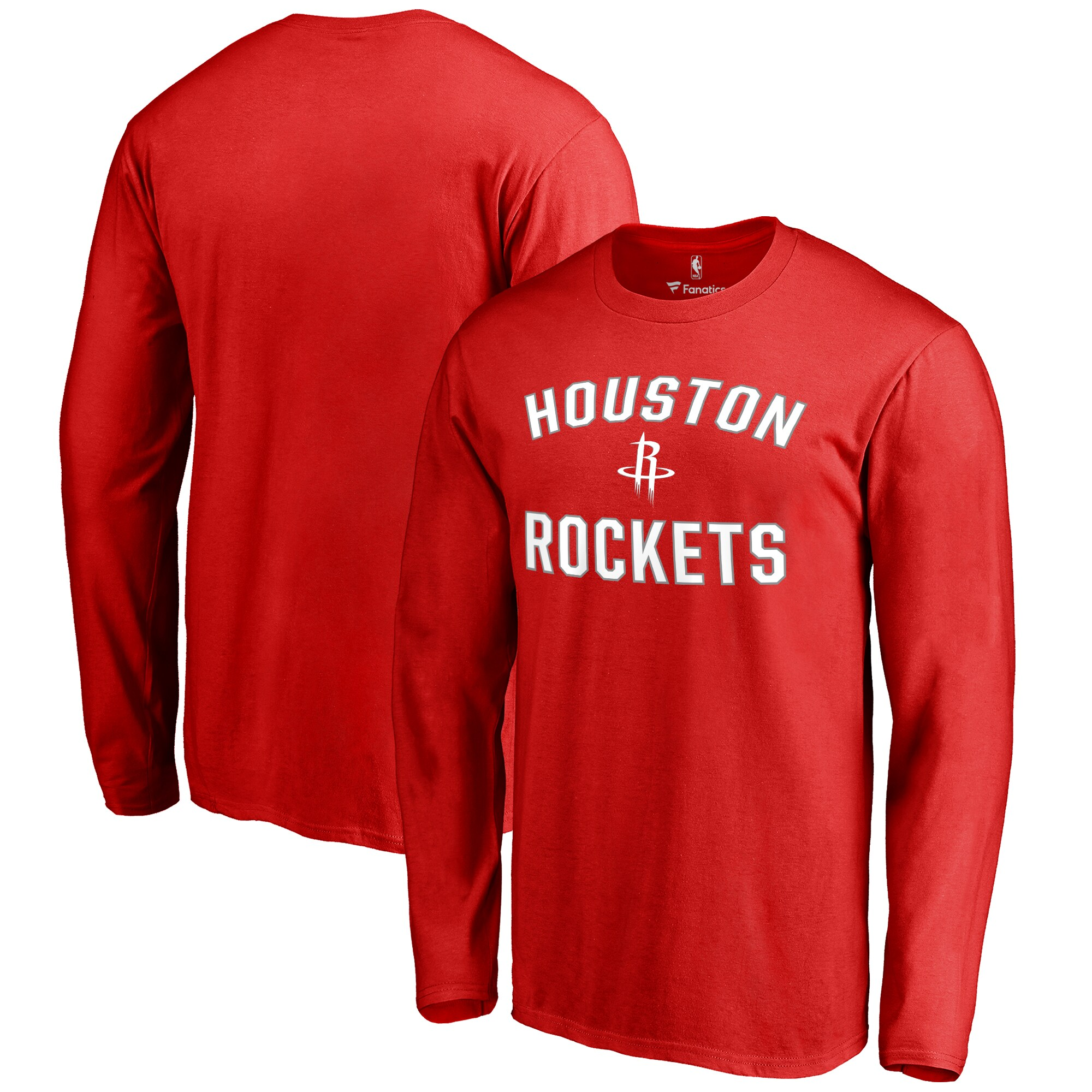 Houston Rockets Big & Tall Victory Arch Long Sleeve T-Shirt - Red