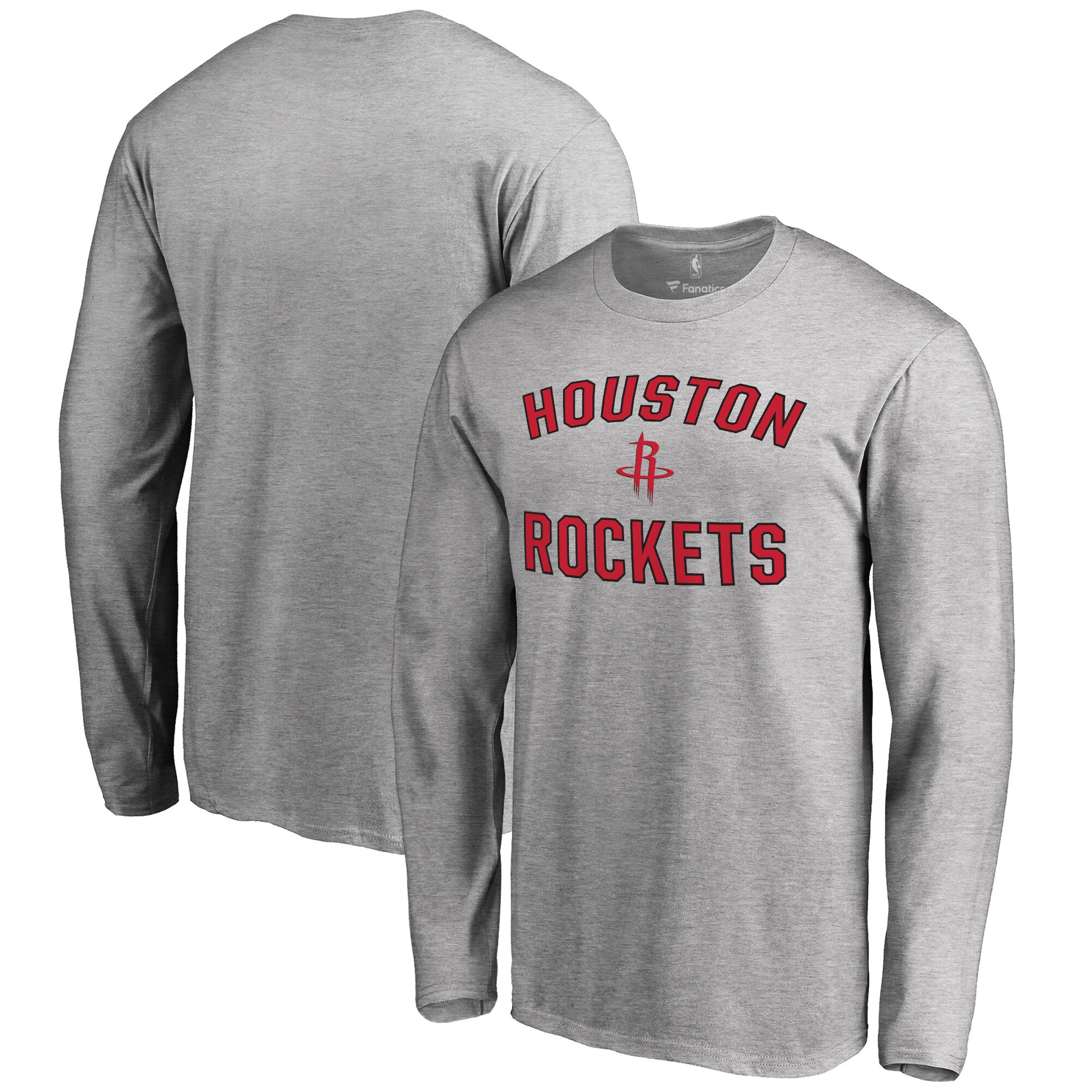 Houston Rockets Big & Tall Victory Arch Long Sleeve T-Shirt - Ash