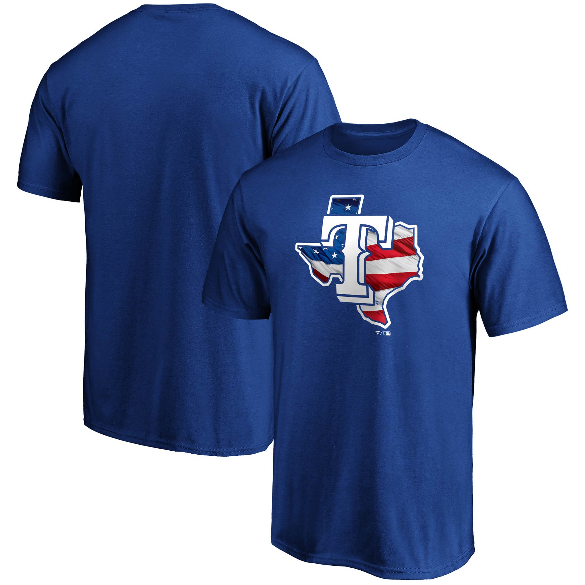 Texas Rangers Fanatics Branded Banner State T-Shirt - Royal