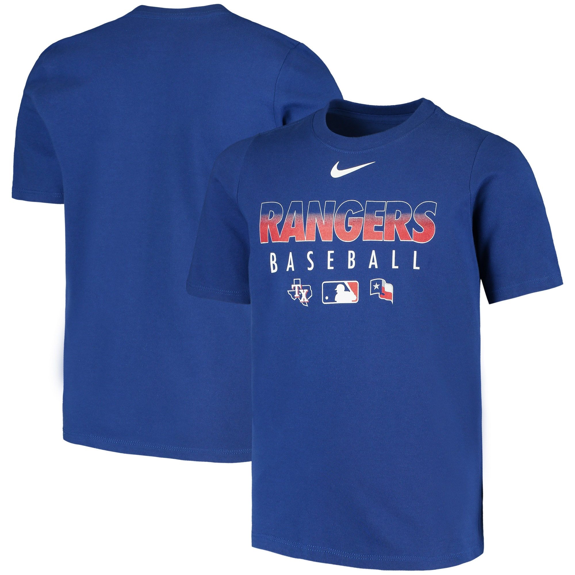 Texas Rangers Nike Youth Early Work Performance T-Shirt - Royal