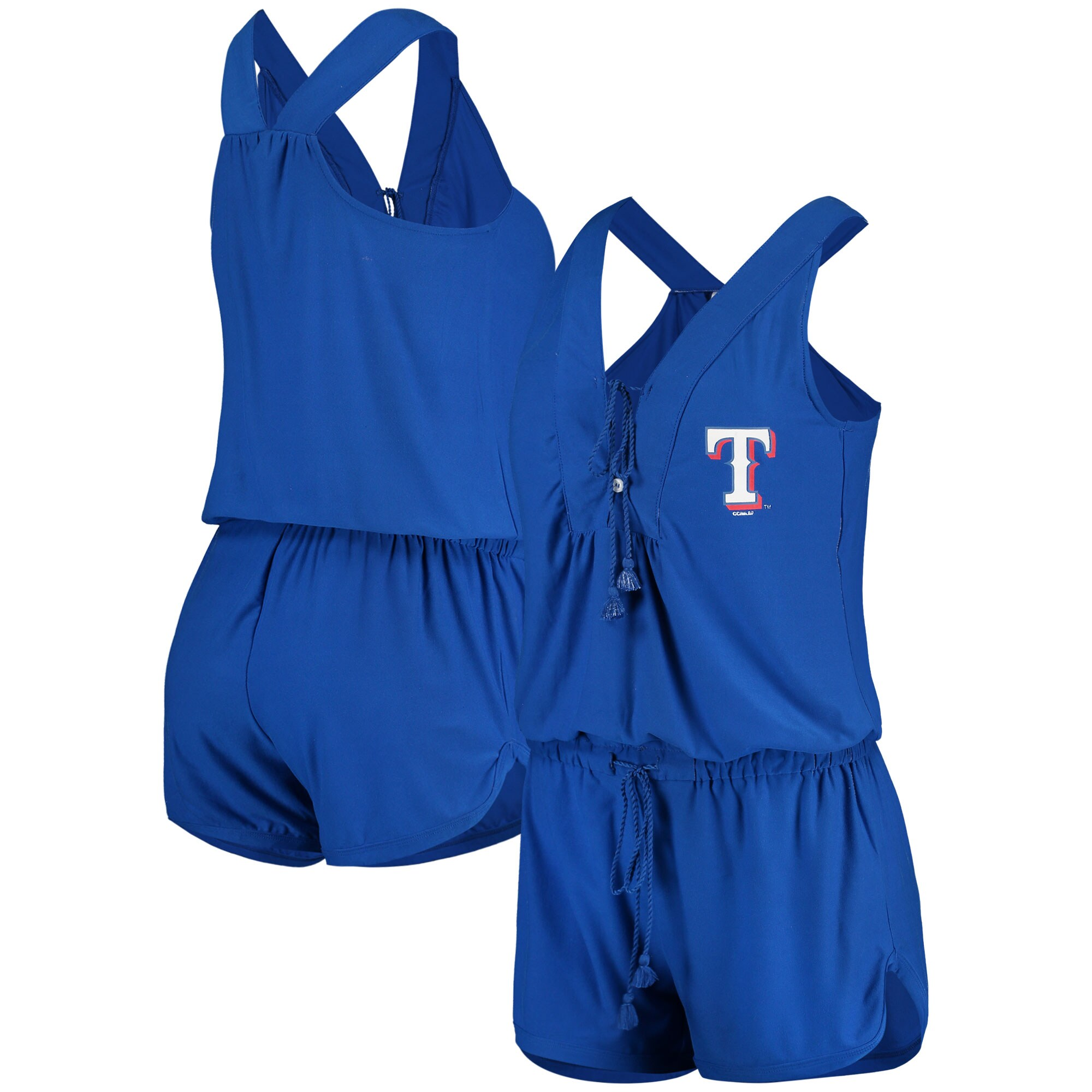Texas Rangers Concepts Sport Women's Cloud 7 Romper - Royal