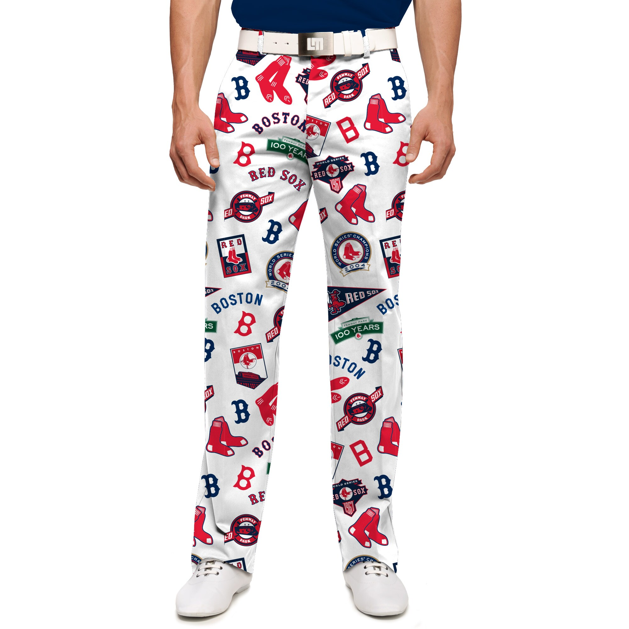 Boston Red Sox Loudmouth Retro StretchTech Pants - White/Red