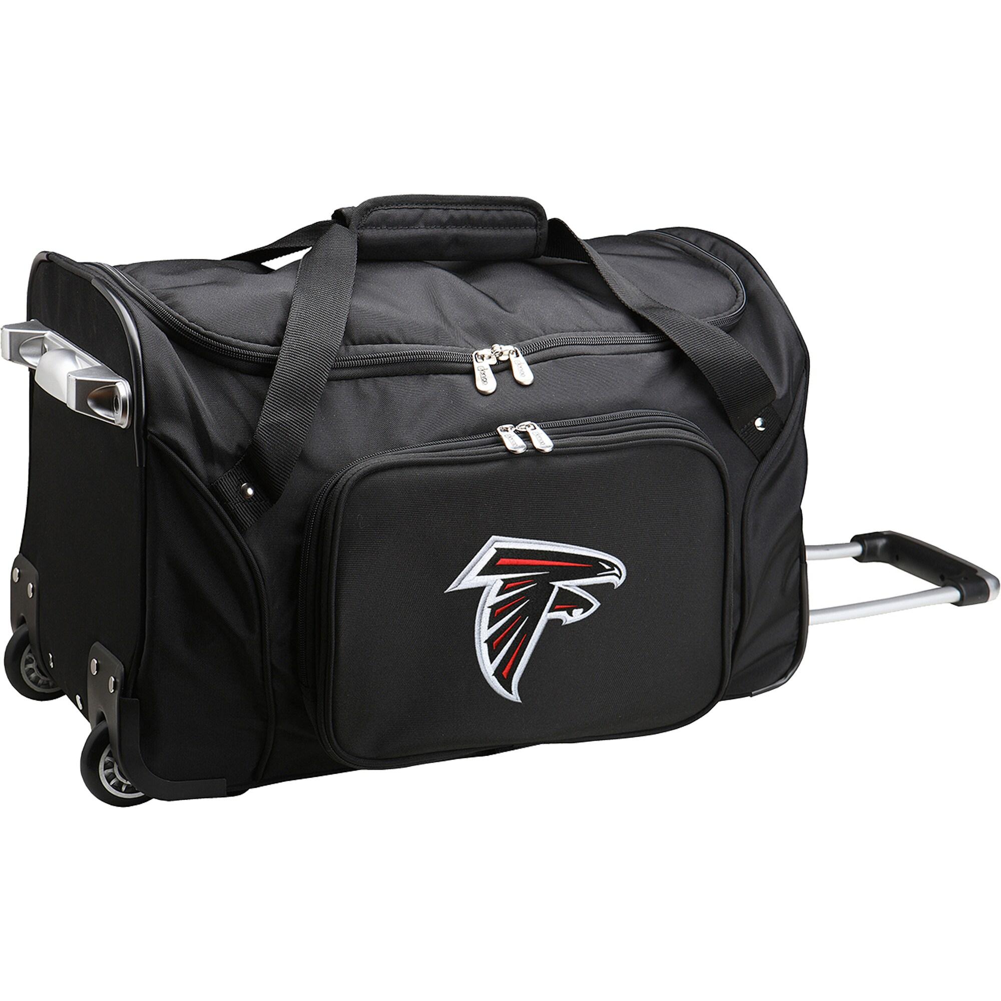 """Atlanta Falcons 22"""" 2-Wheeled Duffel Bag - Black"""
