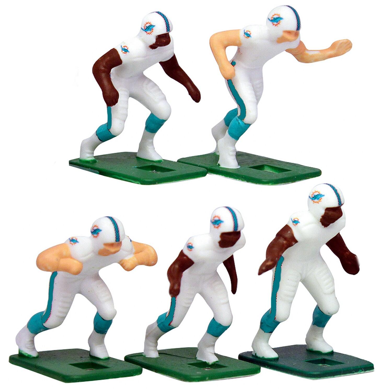 Miami Dolphins White Uniform Action Figures Set