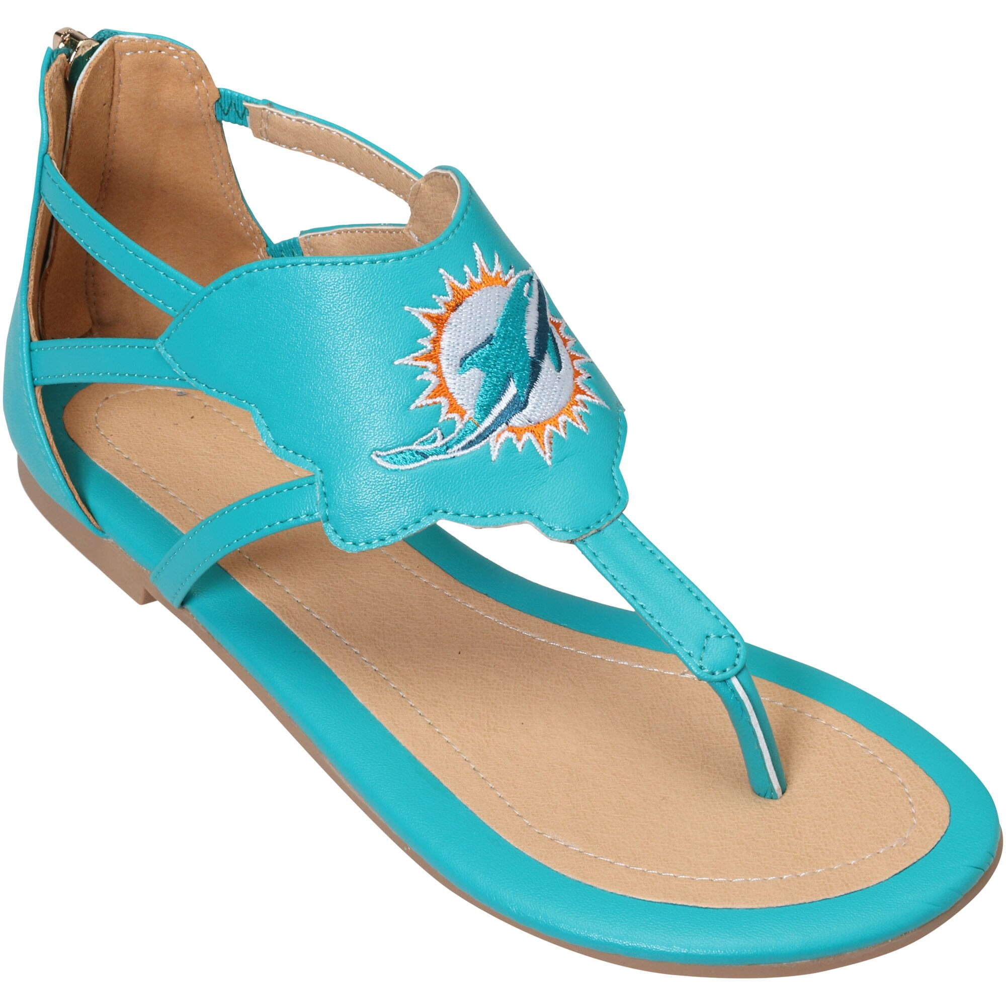 Miami Dolphins Cuce Women's Gladiator Sandals - Aqua