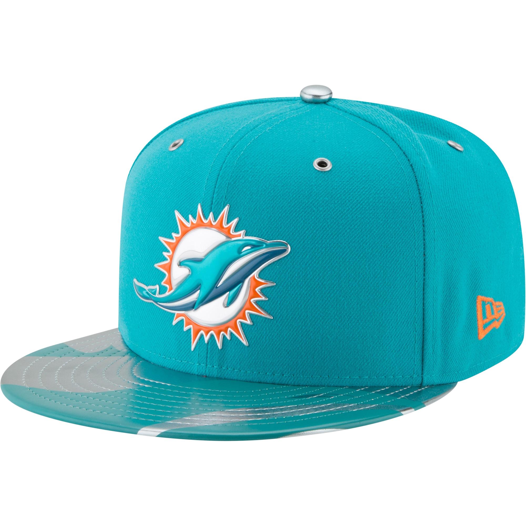 Miami Dolphins New Era NFL Spotlight 59FIFTY Fitted Hat - Aqua