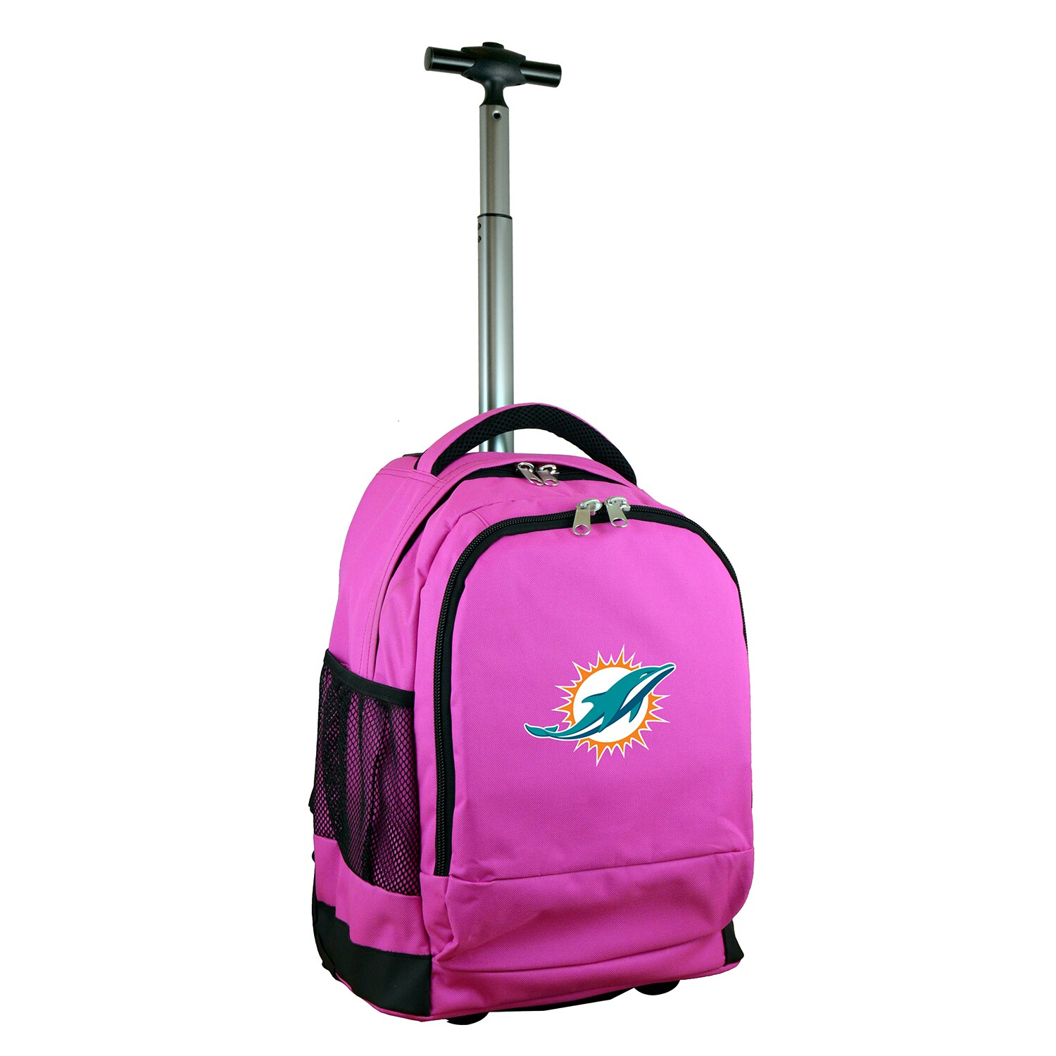 Miami Dolphins 19'' Premium Wheeled Backpack - Pink