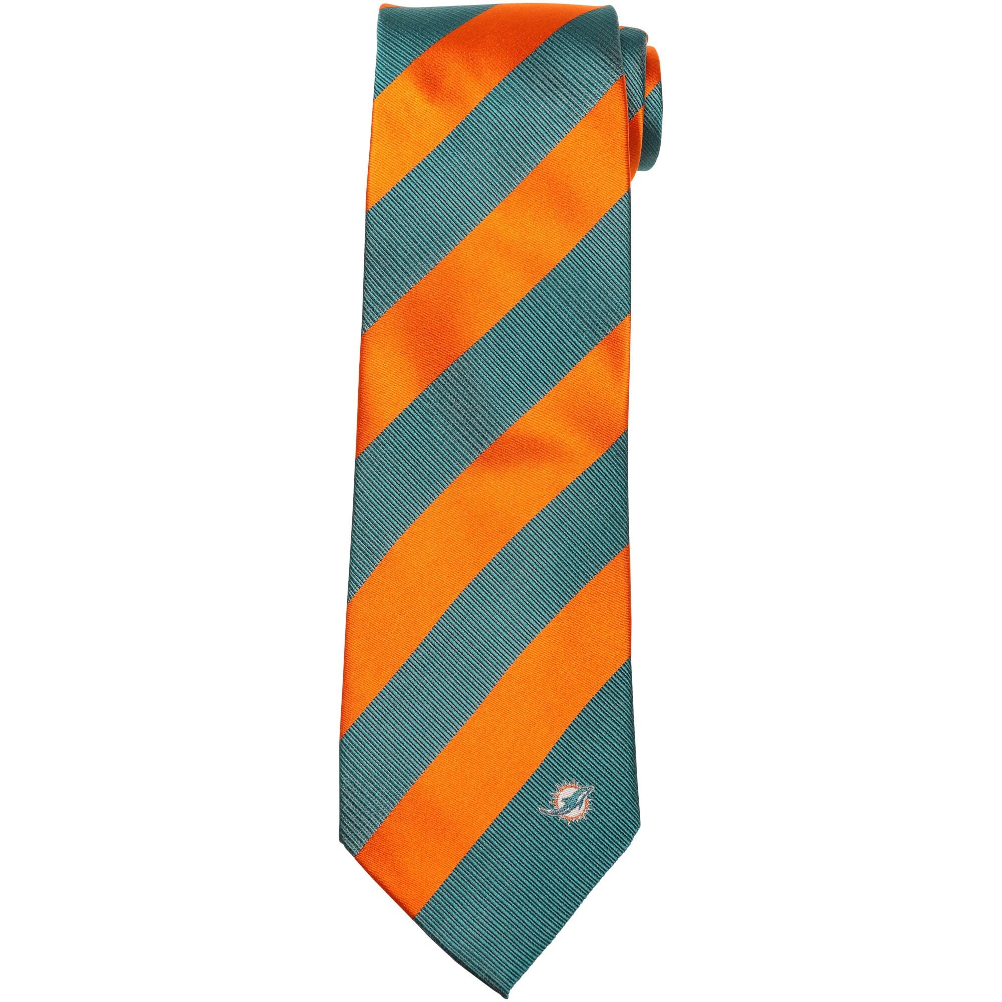 Miami Dolphins Regiment Woven Silk Tie