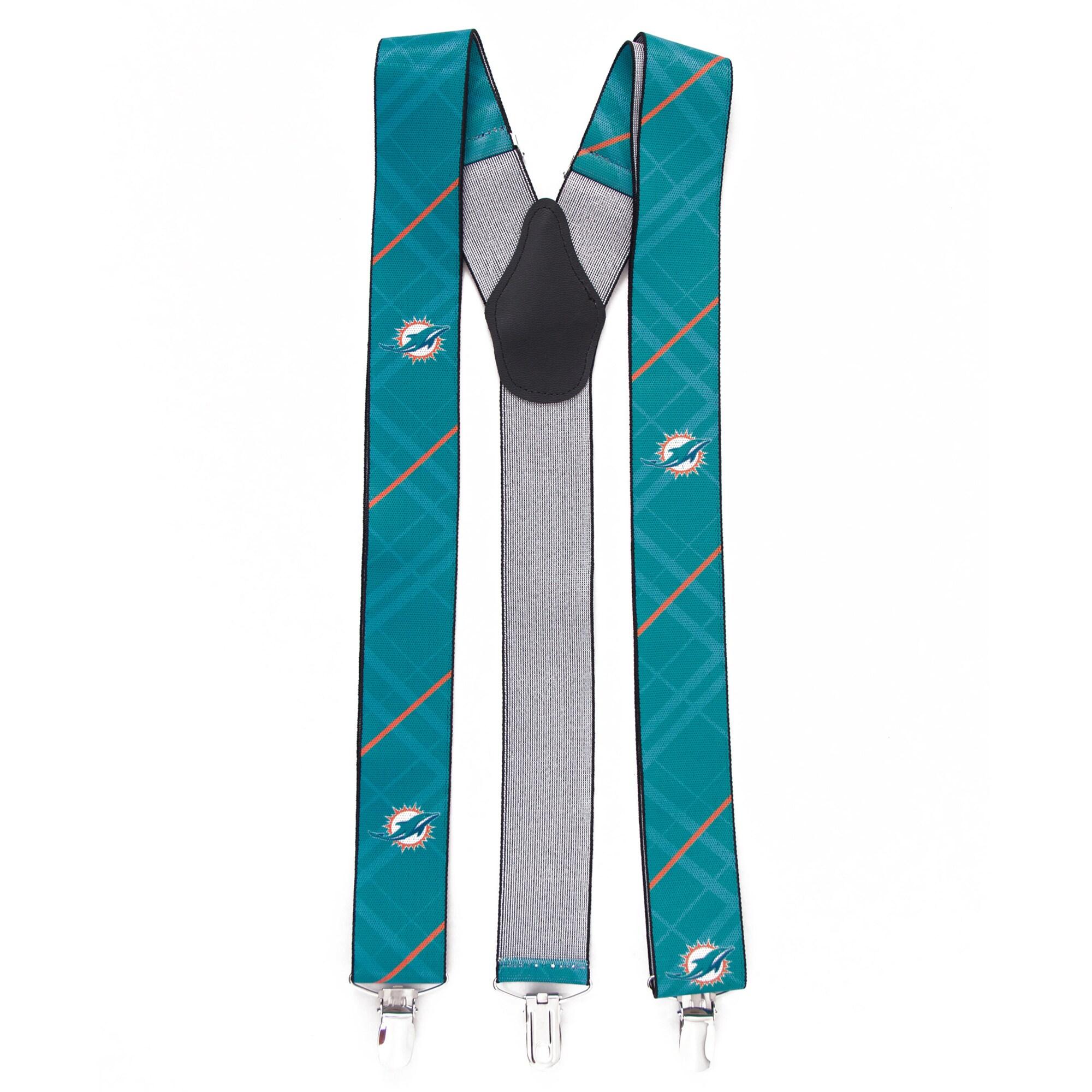 Miami Dolphins Suspenders - Aqua