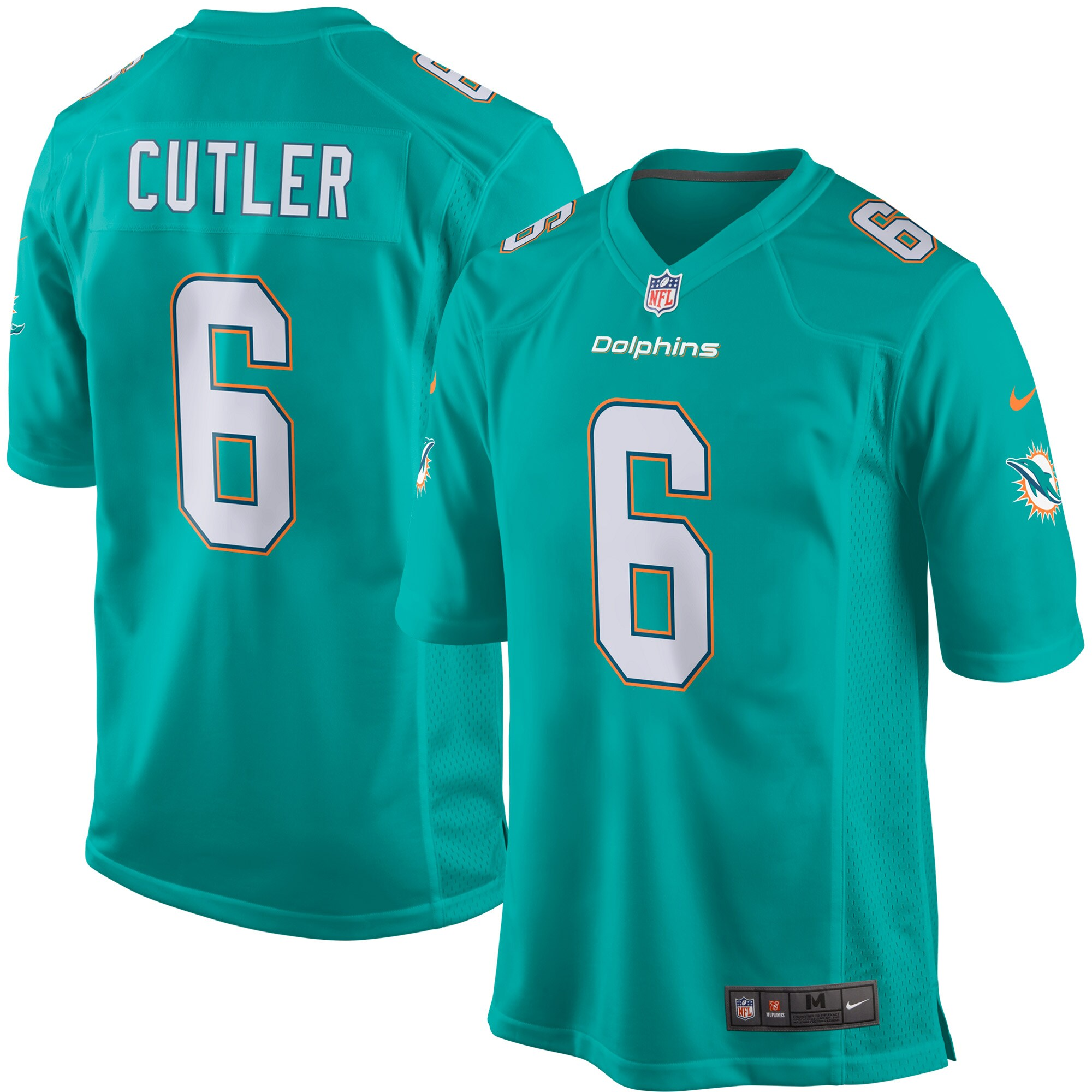 Jay Cutler Miami Dolphins Nike Youth Game Jersey - Aqua