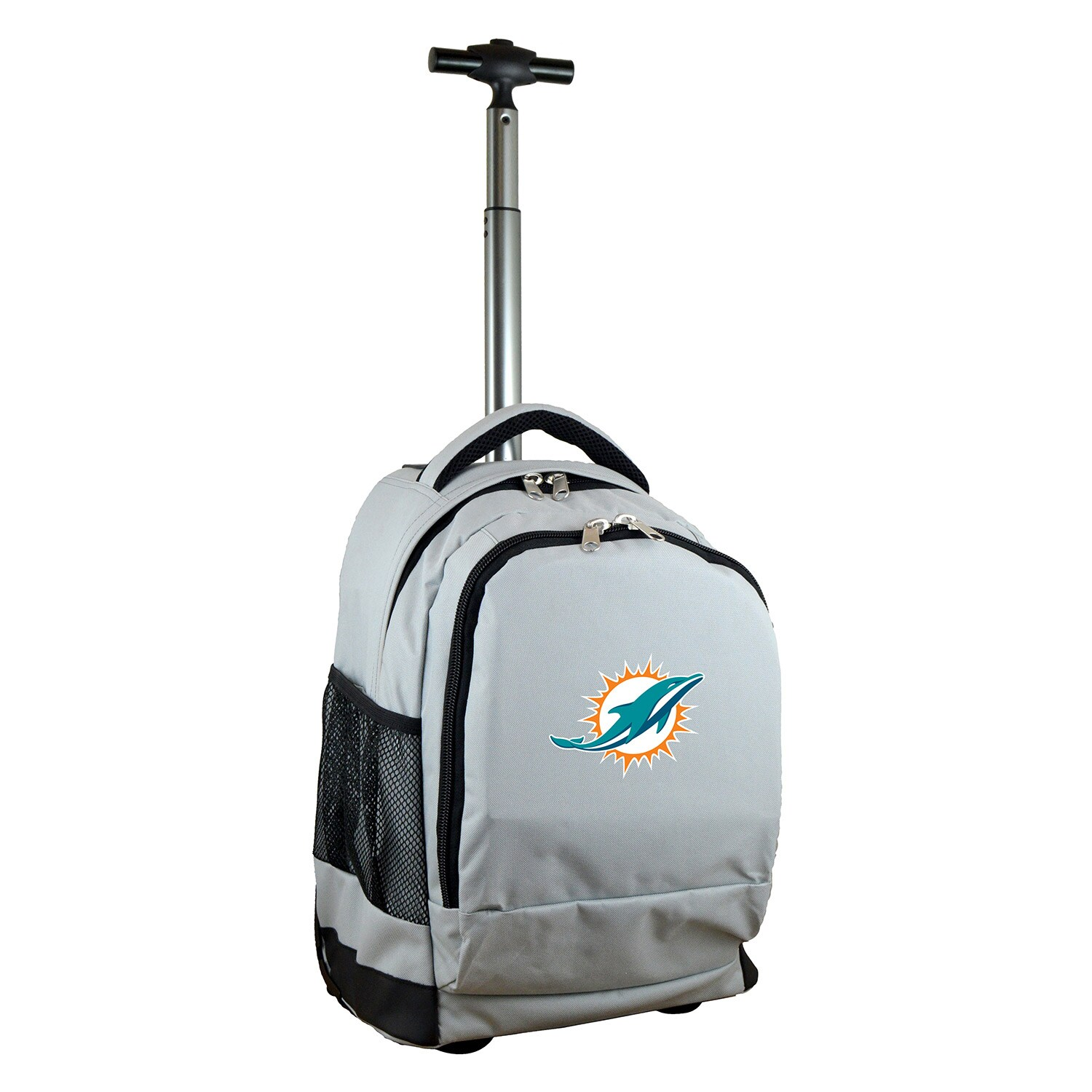 Miami Dolphins 19'' Premium Wheeled Backpack - Gray