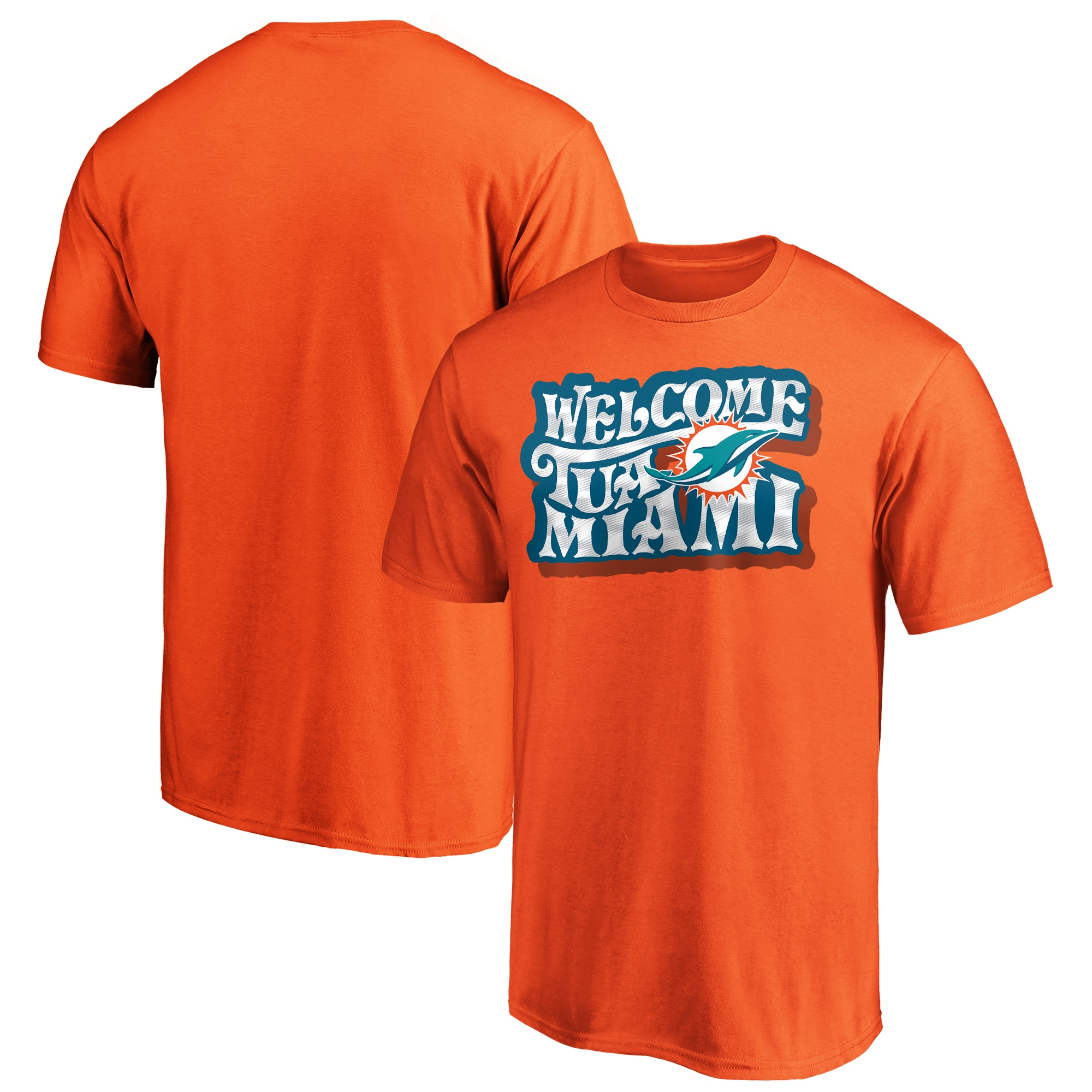 Miami Dolphins Fanatics Branded Welcome Tua Miami T-Shirt - Orange