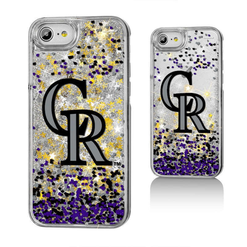 Colorado Rockies iPhone 6/6s/7/8 Logo Gold Glitter Case