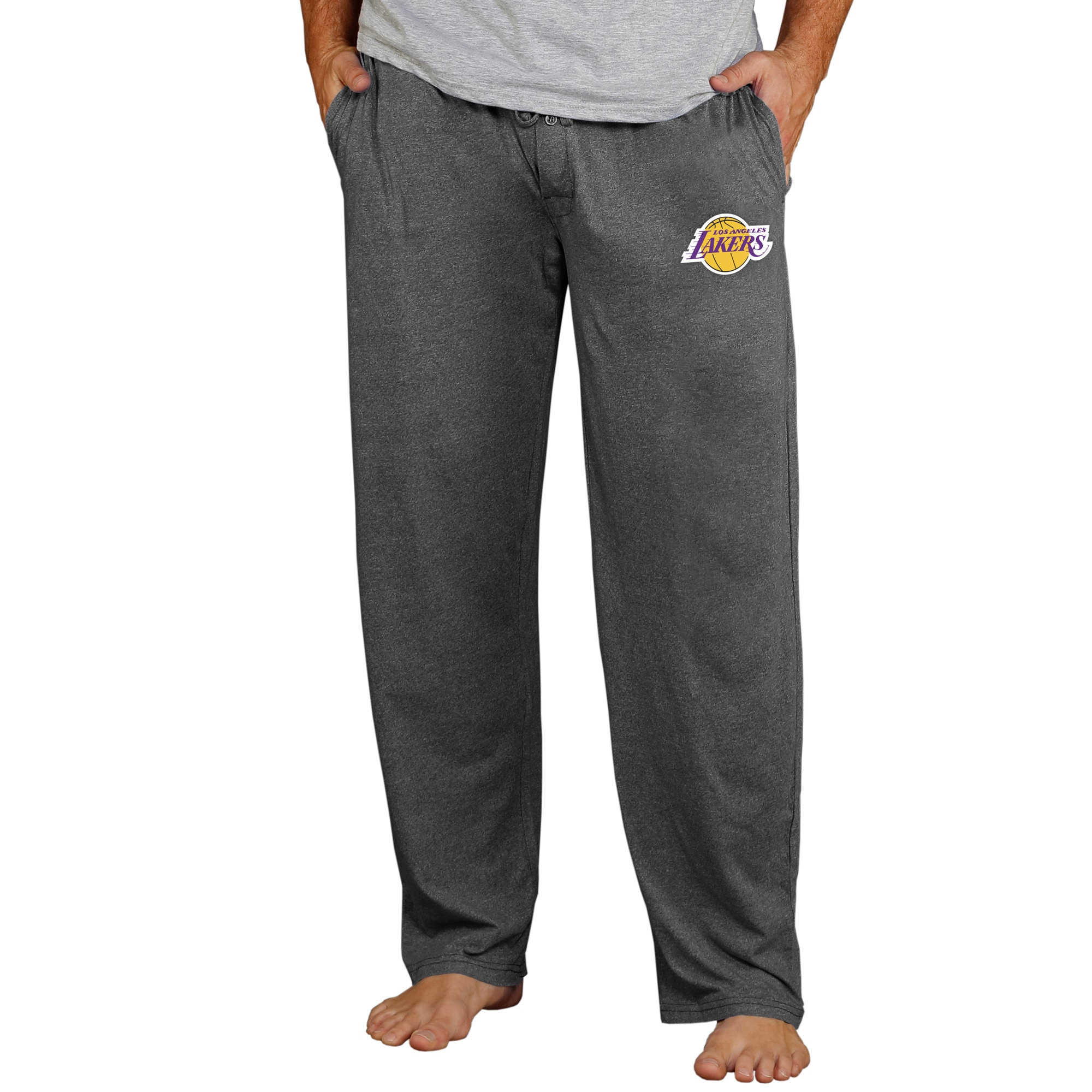 Los Angeles Lakers Concepts Sport Quest Knit Pants - Charcoal
