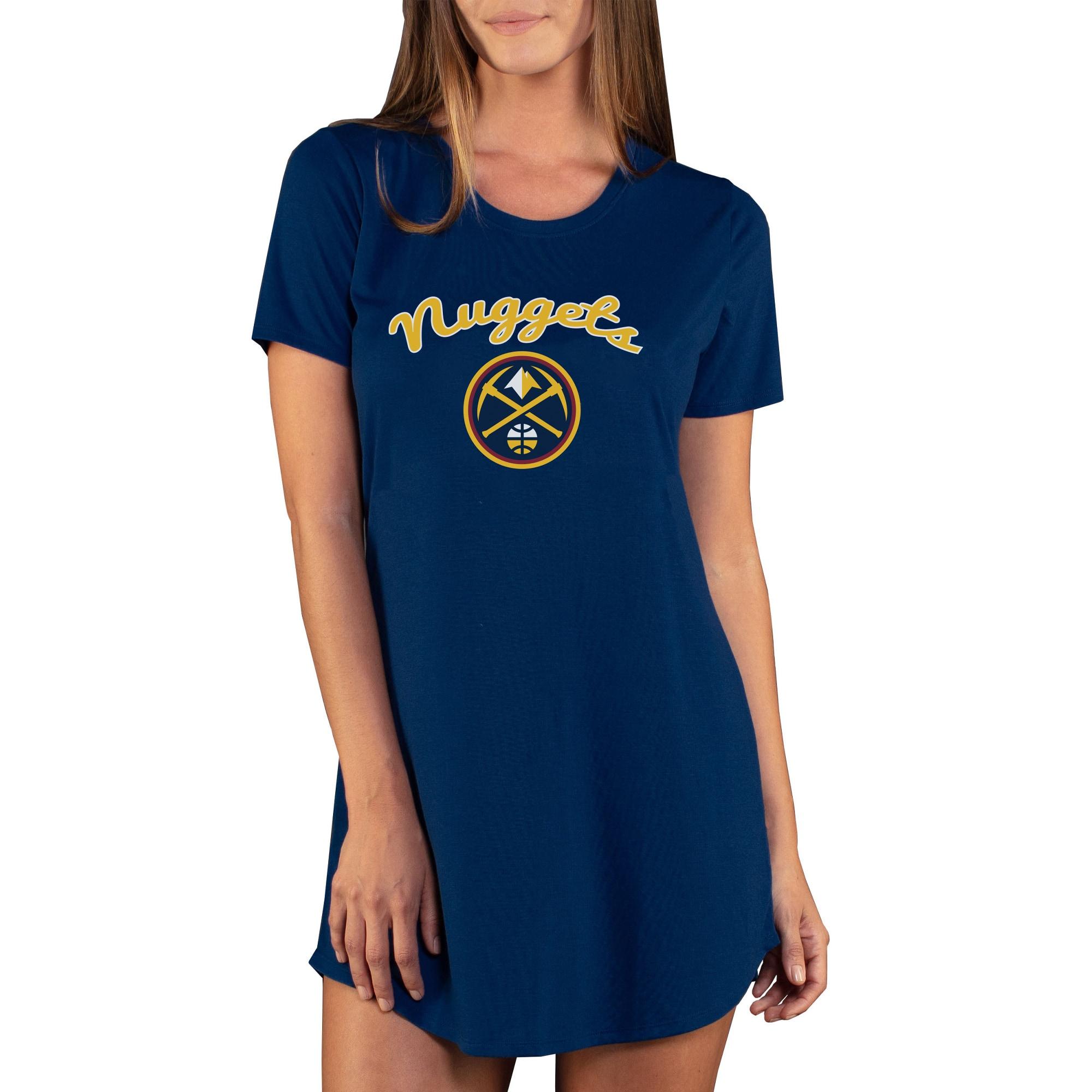 Denver Nuggets Concepts Sport Women's Marathon Knit Nightshirt - Navy
