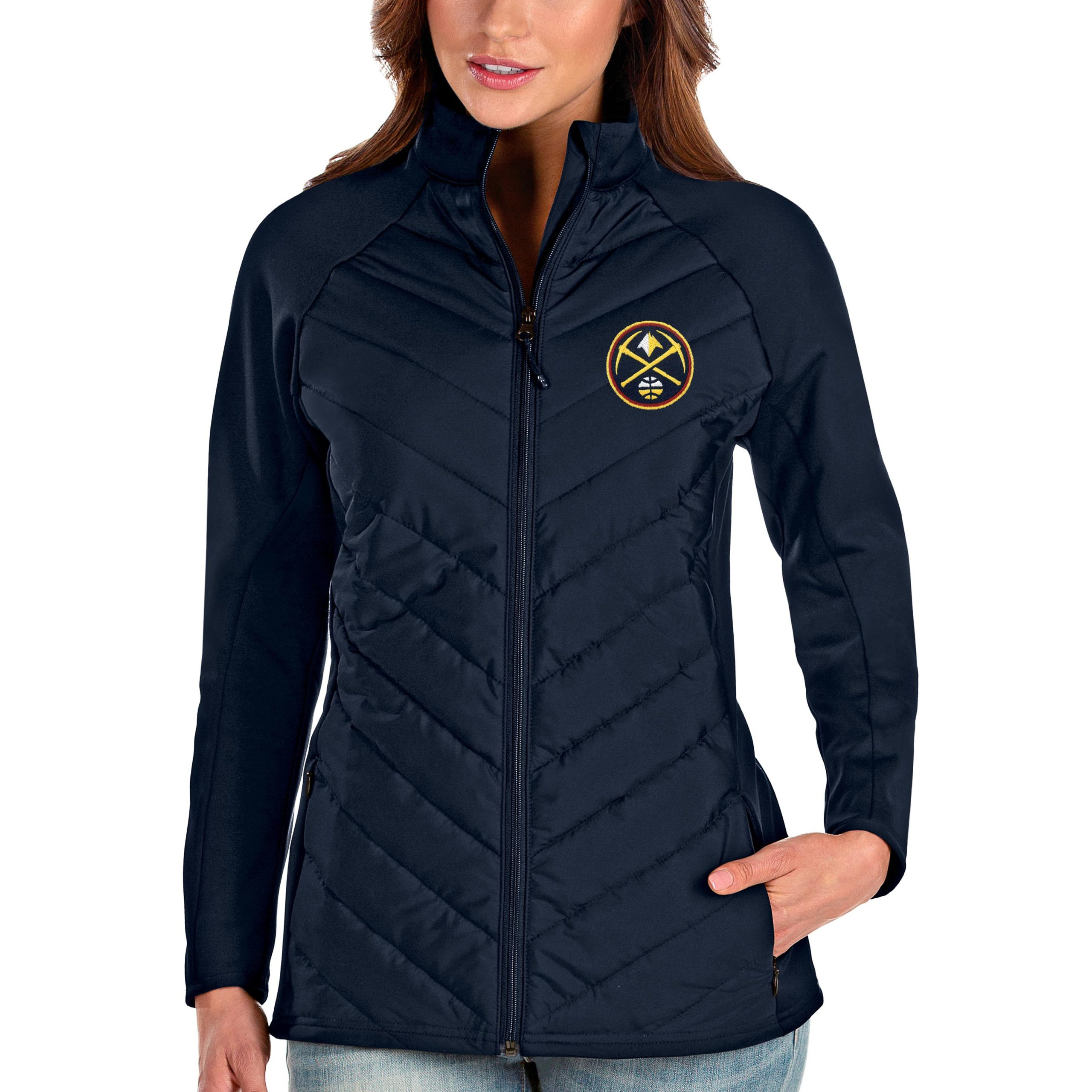 Denver Nuggets Antigua Women's Altitude Full-Zip Jacket - Navy