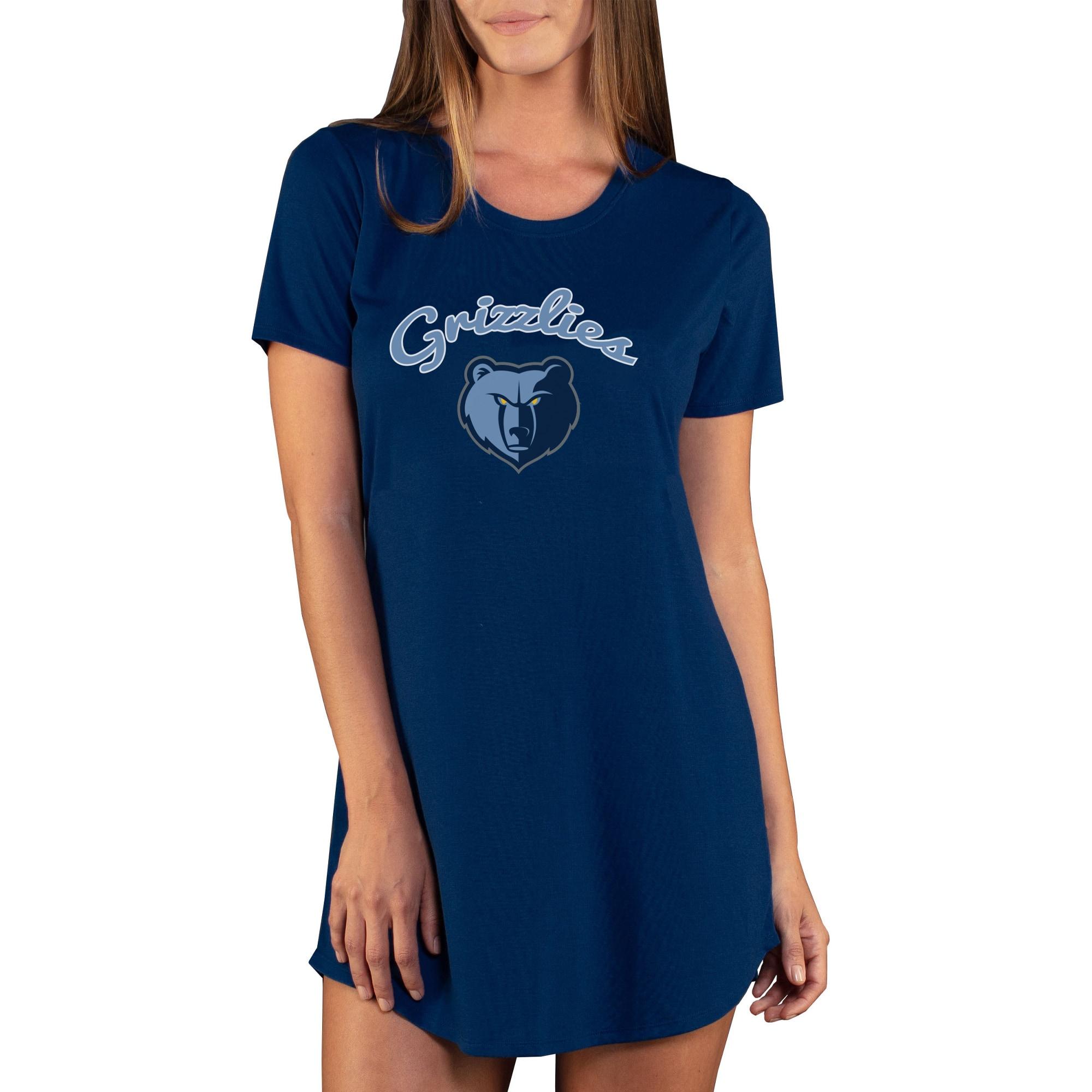 Memphis Grizzlies Concepts Sport Women's Marathon Knit Nightshirt - Navy