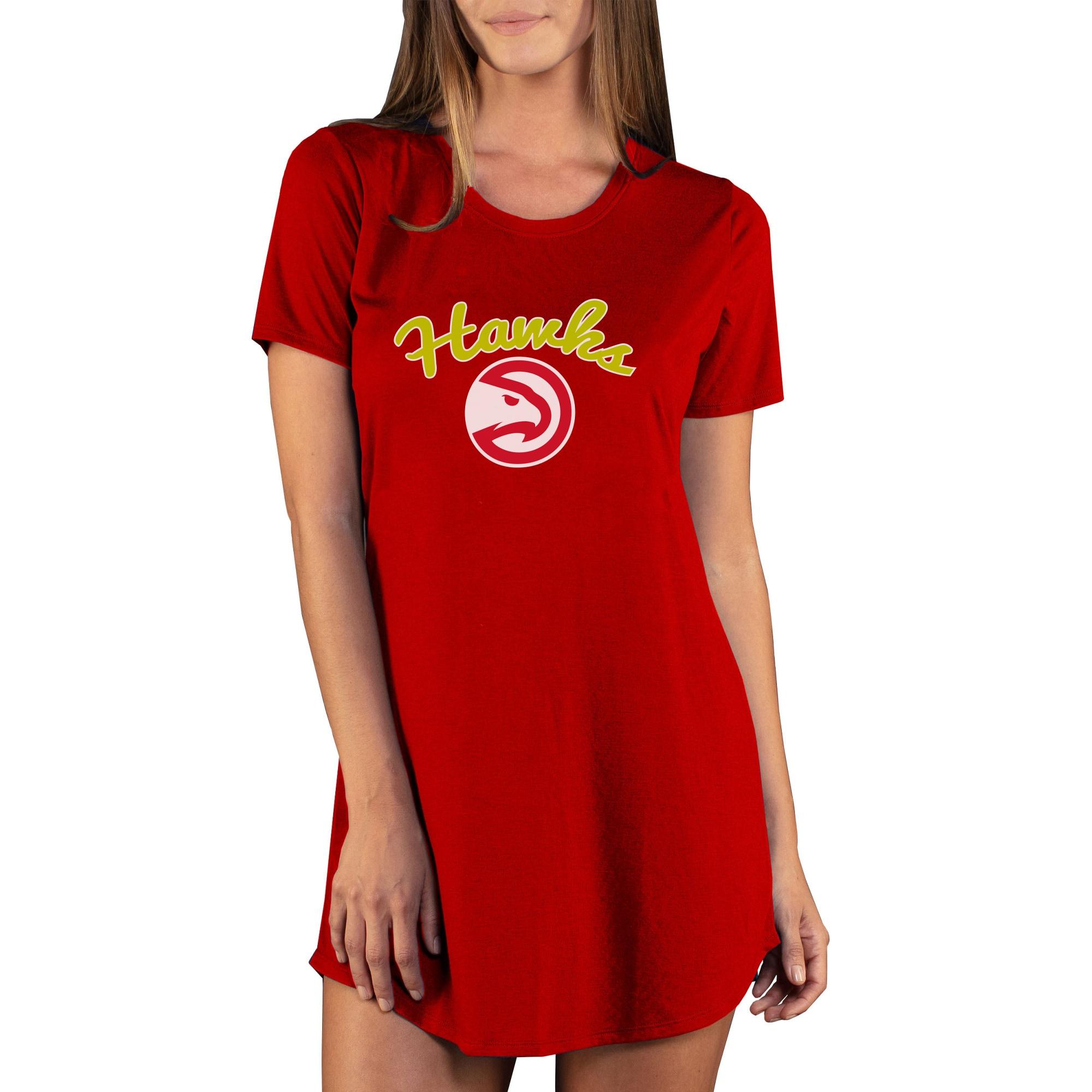 Atlanta Hawks Concepts Sport Women's Marathon Knit Nightshirt - Red
