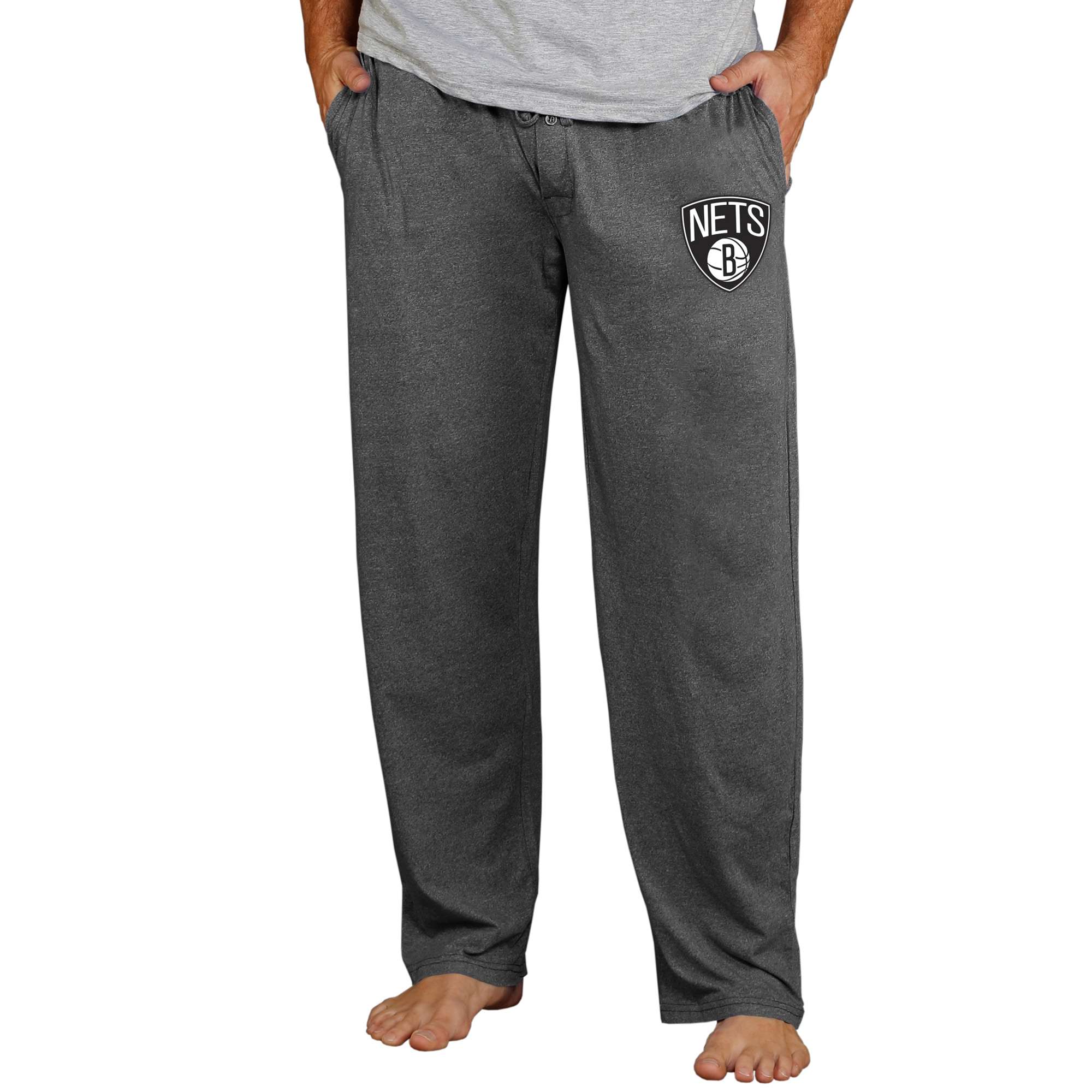 Brooklyn Nets Concepts Sport Quest Knit Lounge Pants - Charcoal