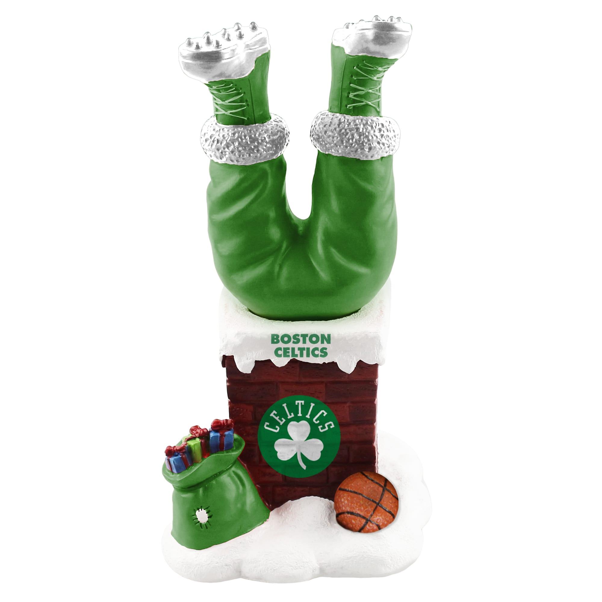 Boston Celtics Chimney Legs Bobble Tabletop Ornament