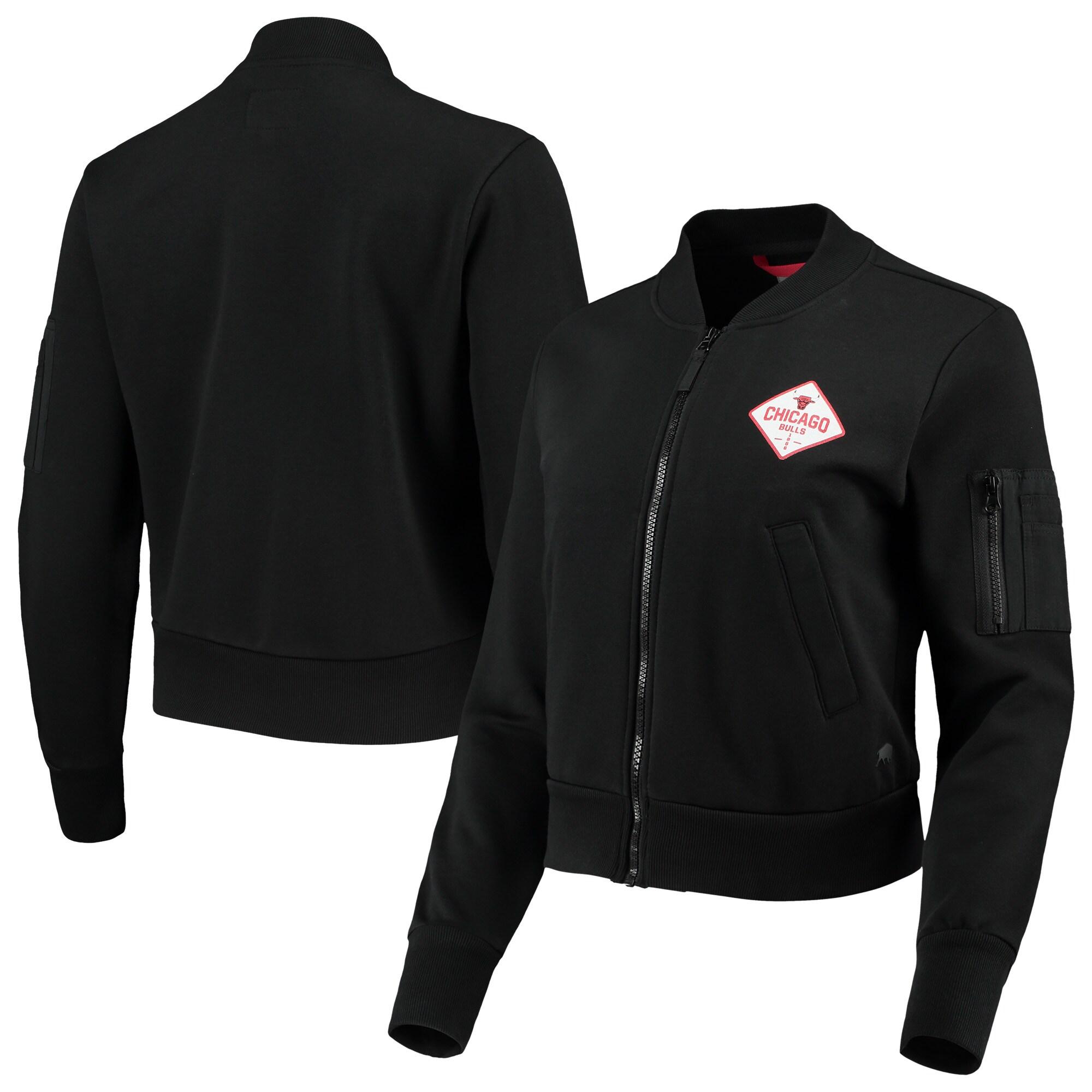 Chicago Bulls Sportiqe Women's Ice Bomber Full-Zip Jacket - Black