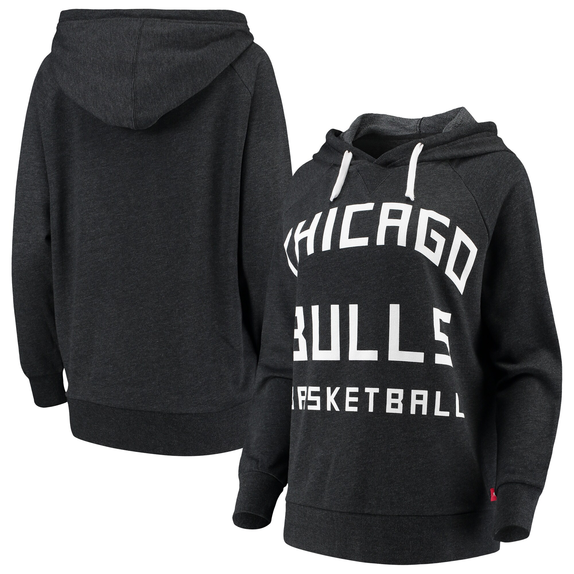 Chicago Bulls Sportiqe Women's Kylie French Terry Oversized Raglan Pullover Hoodie - Black