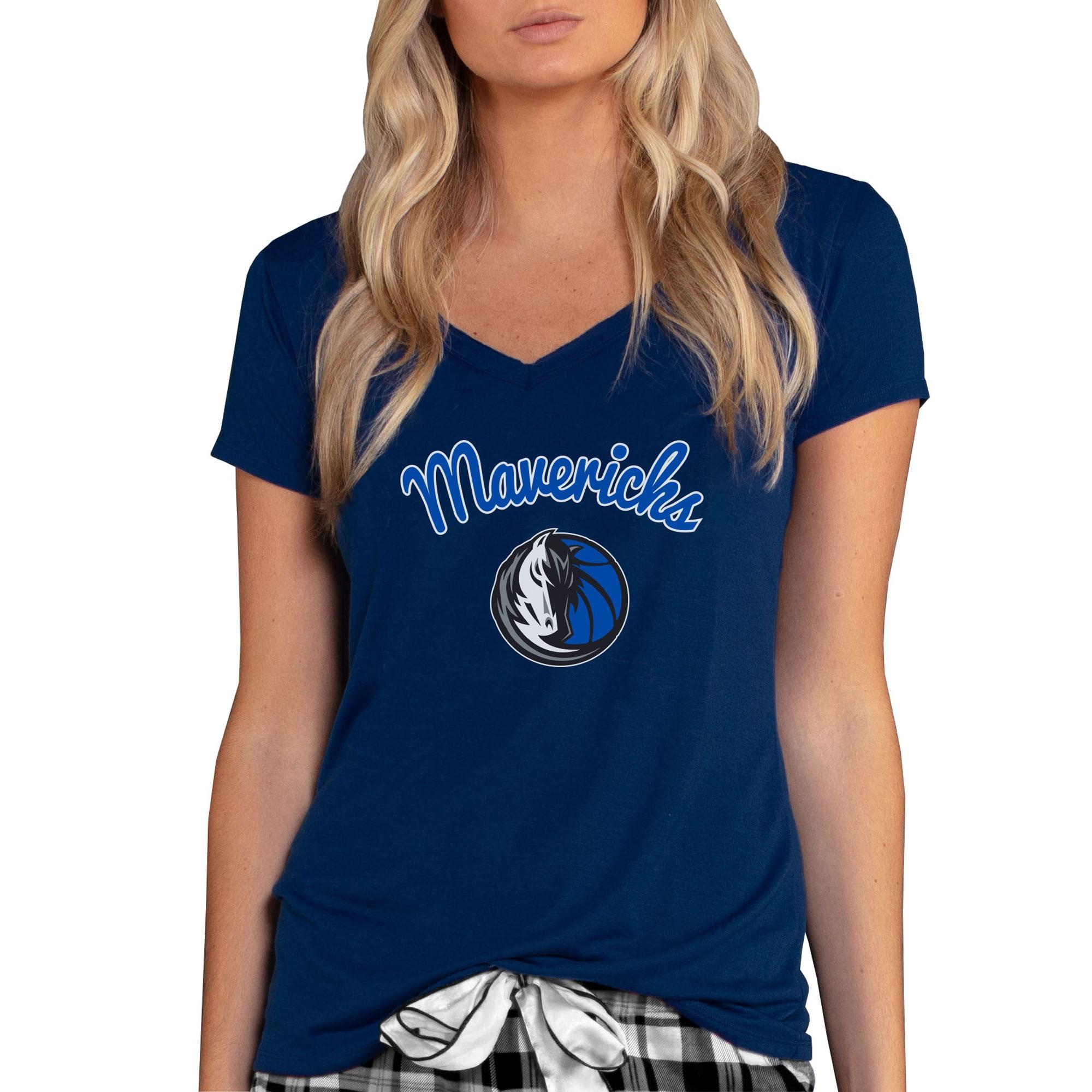 Dallas Mavericks Concepts Sport Women's Marathon V-Neck T-Shirt - Navy
