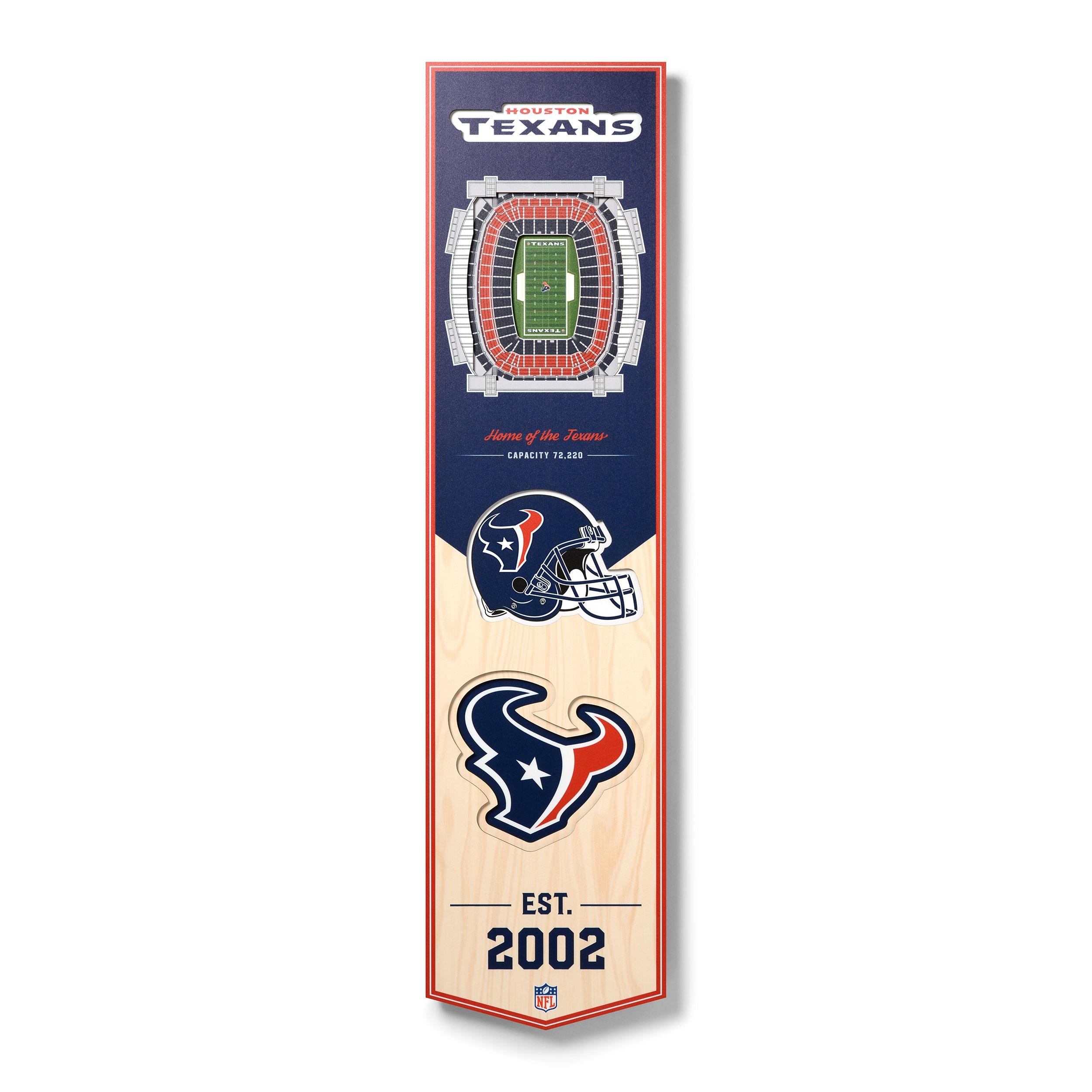 Houston Texans 8'' x 32'' 3D StadiumView Banner