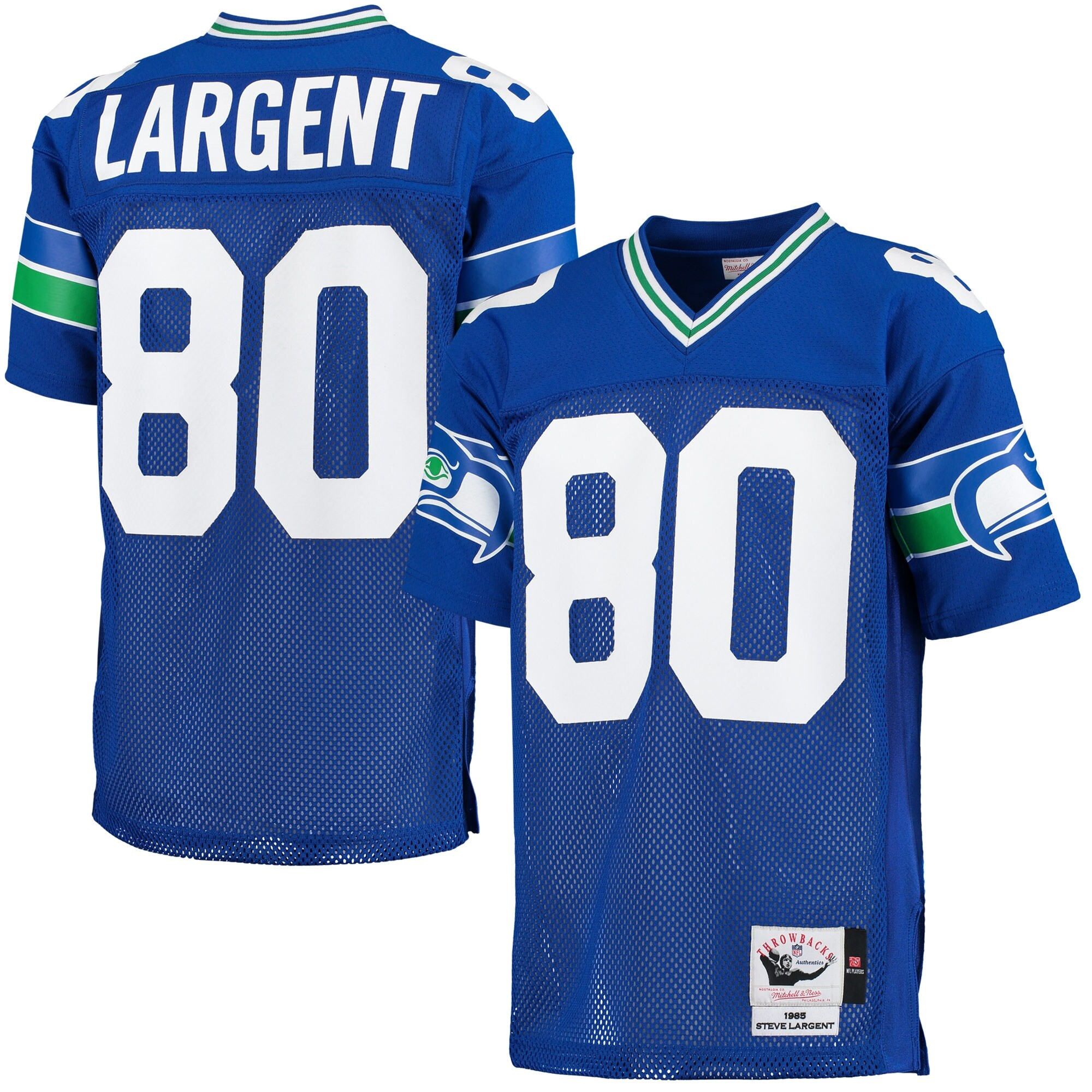 Steve Largent Seattle Seahawks Mitchell & Ness 1985 Throwback Authentic Jersey - Blue