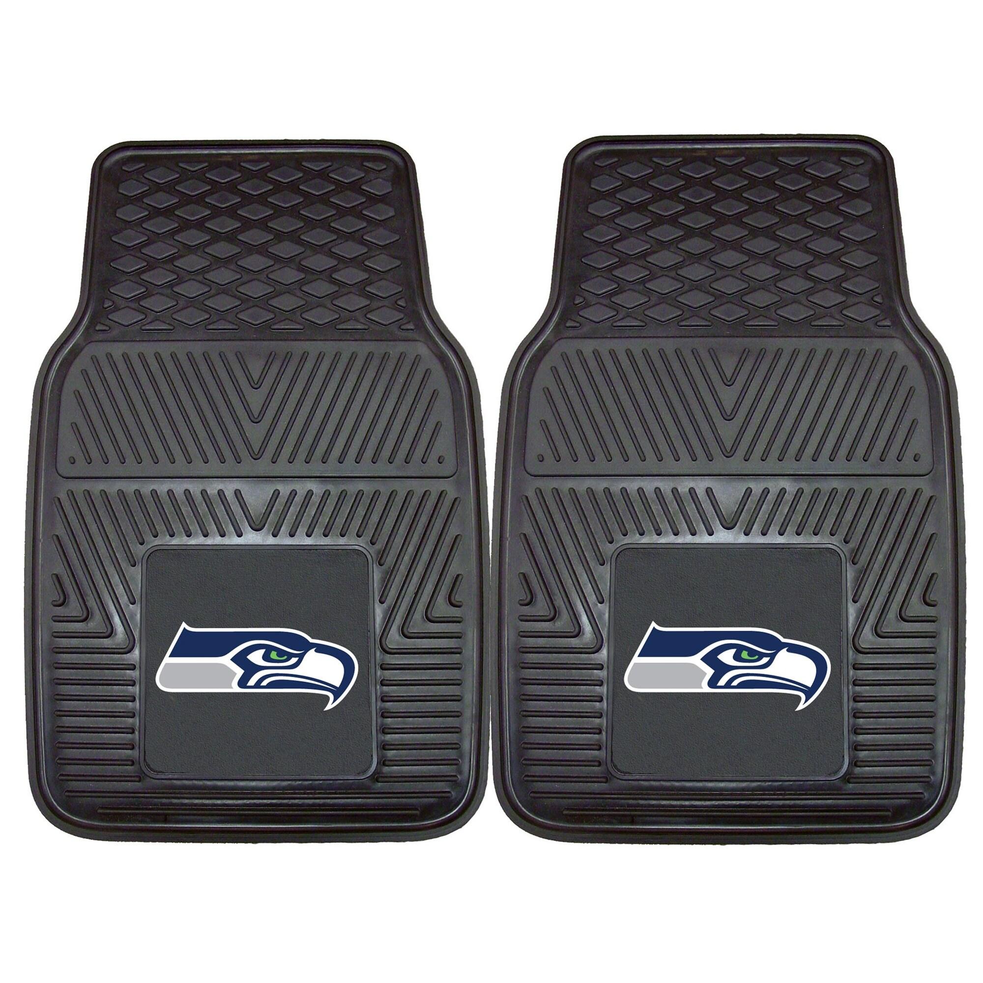 "Seattle Seahawks 27"" x 18"" 2-Pack Vinyl Car Mat Set"