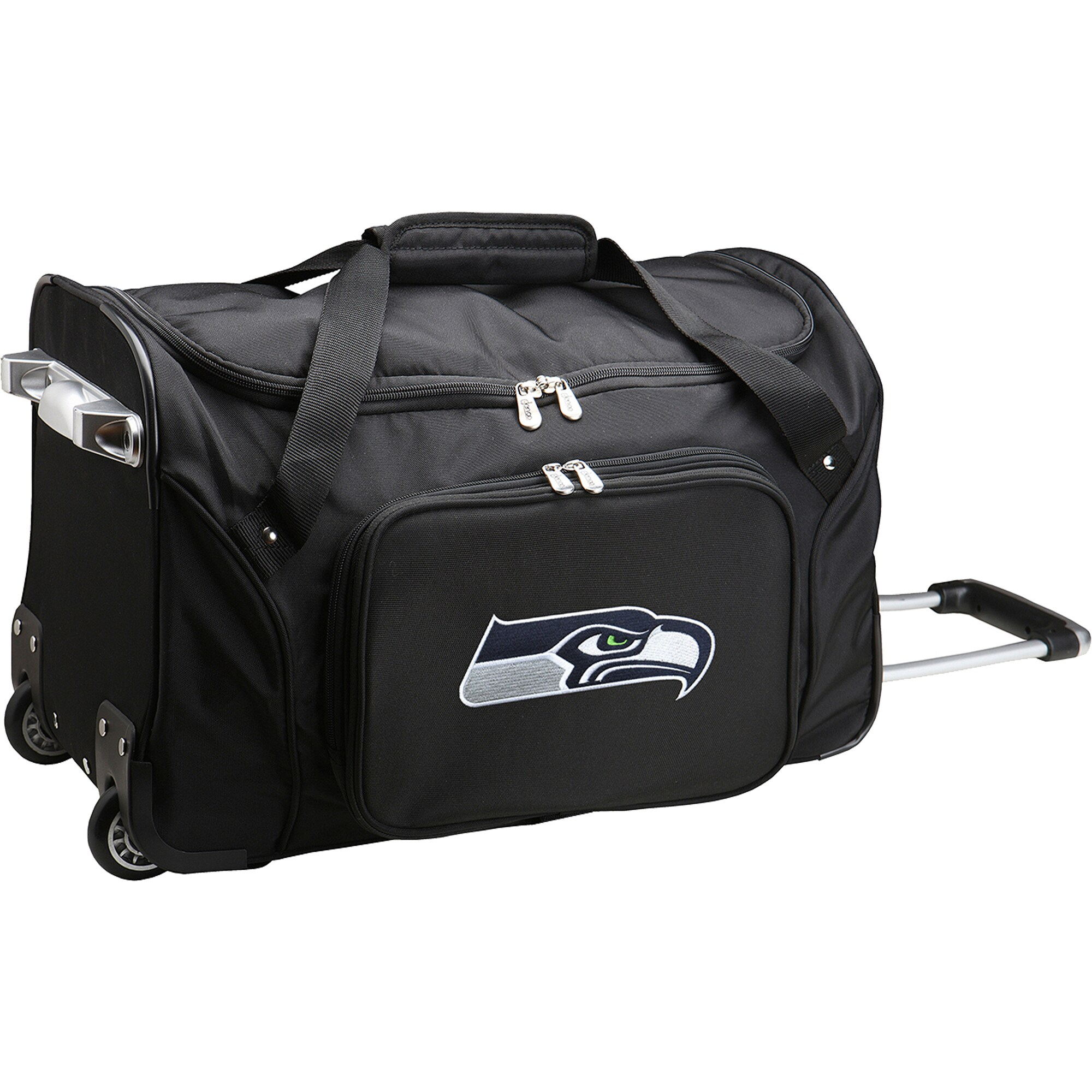 "Seattle Seahawks 22"" 2-Wheeled Duffel Bag - Black"