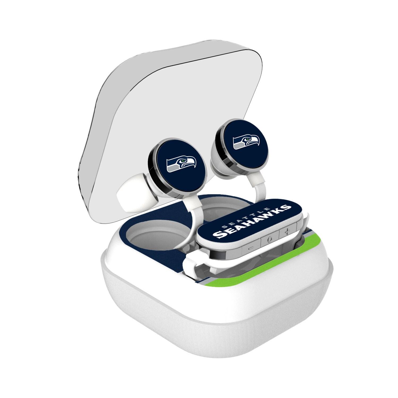 Seattle Seahawks Stripe Design Wireless Earbuds