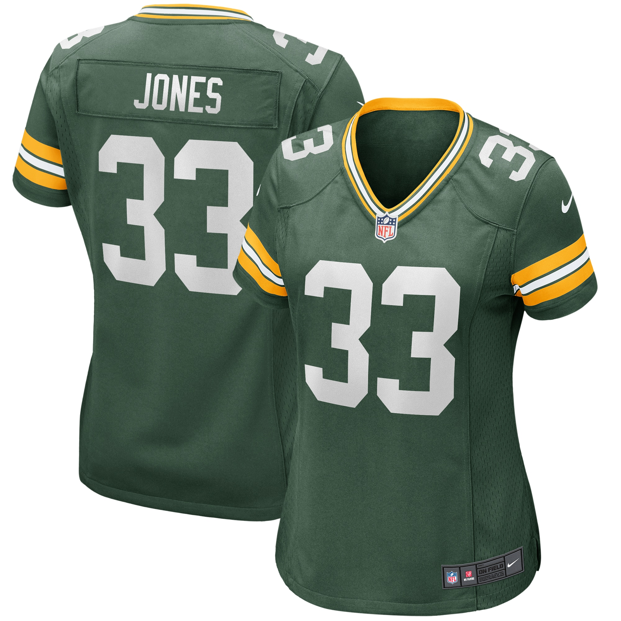 Aaron Jones Green Bay Packers Nike Women's Game Jersey - Green