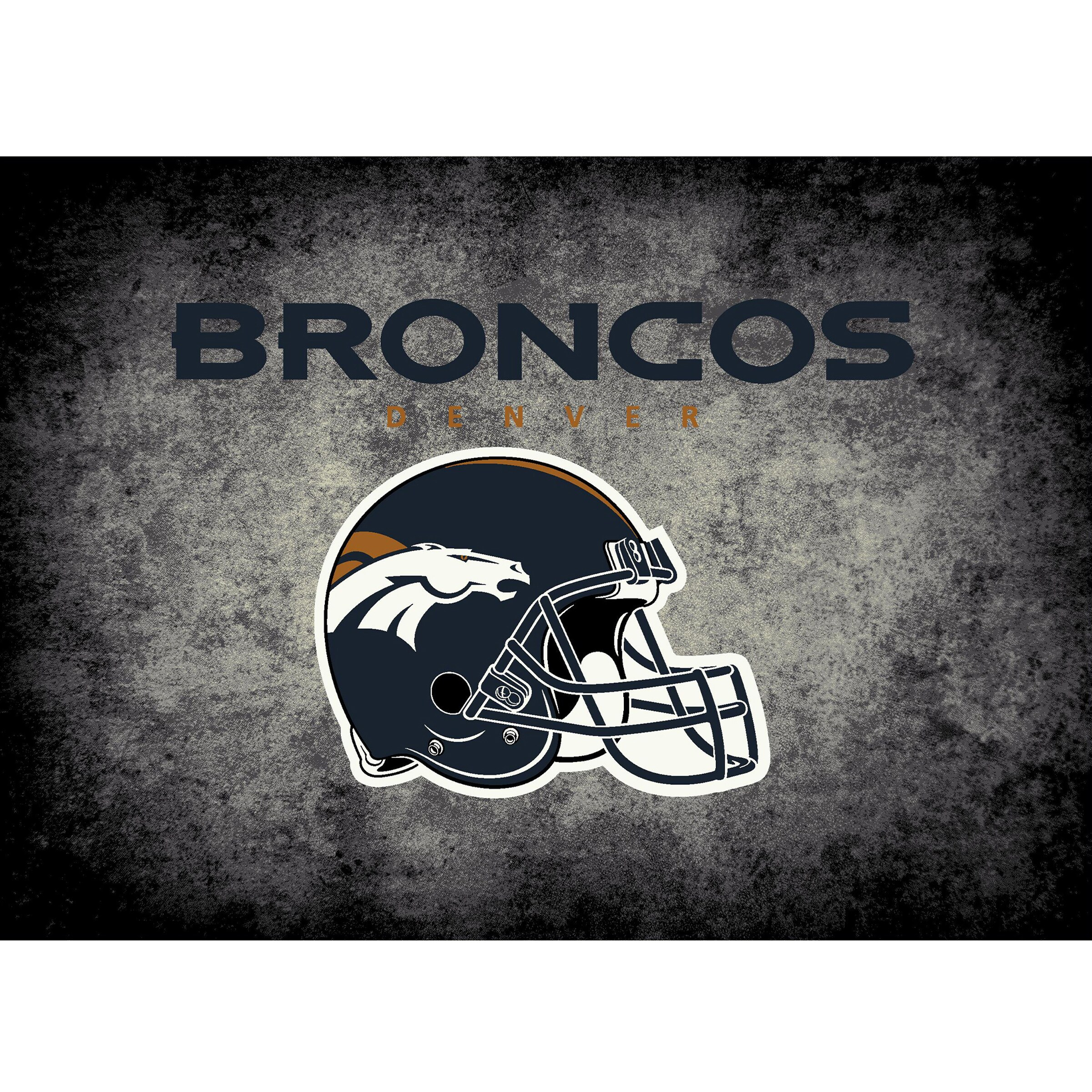 Denver Broncos Imperial 4' x 6' Distressed Rug