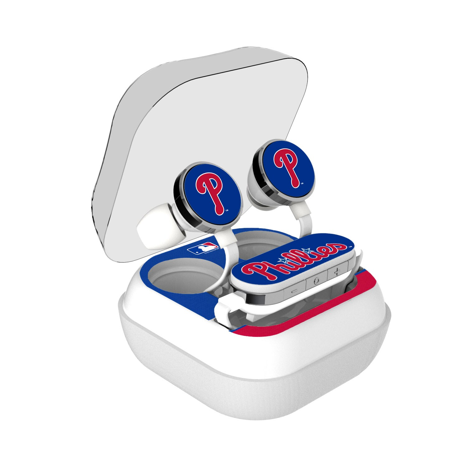 Philadelphia Phillies Stripe Design Wireless Earbuds