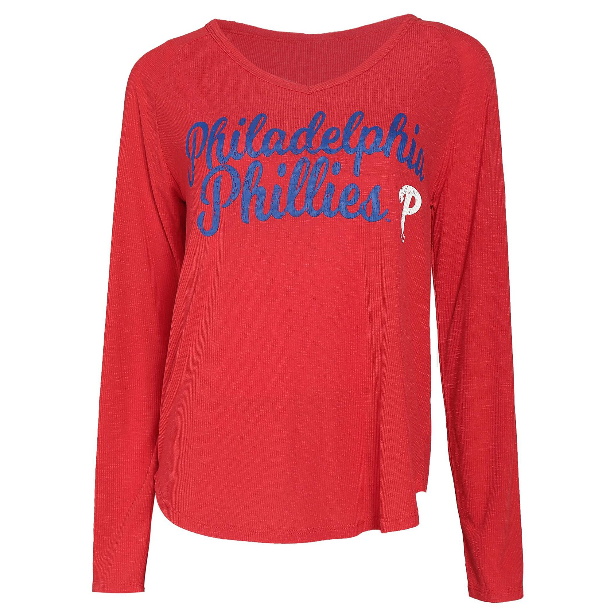 Philadelphia Phillies Concepts Sport Women's Composure Long Sleeve Top - Red