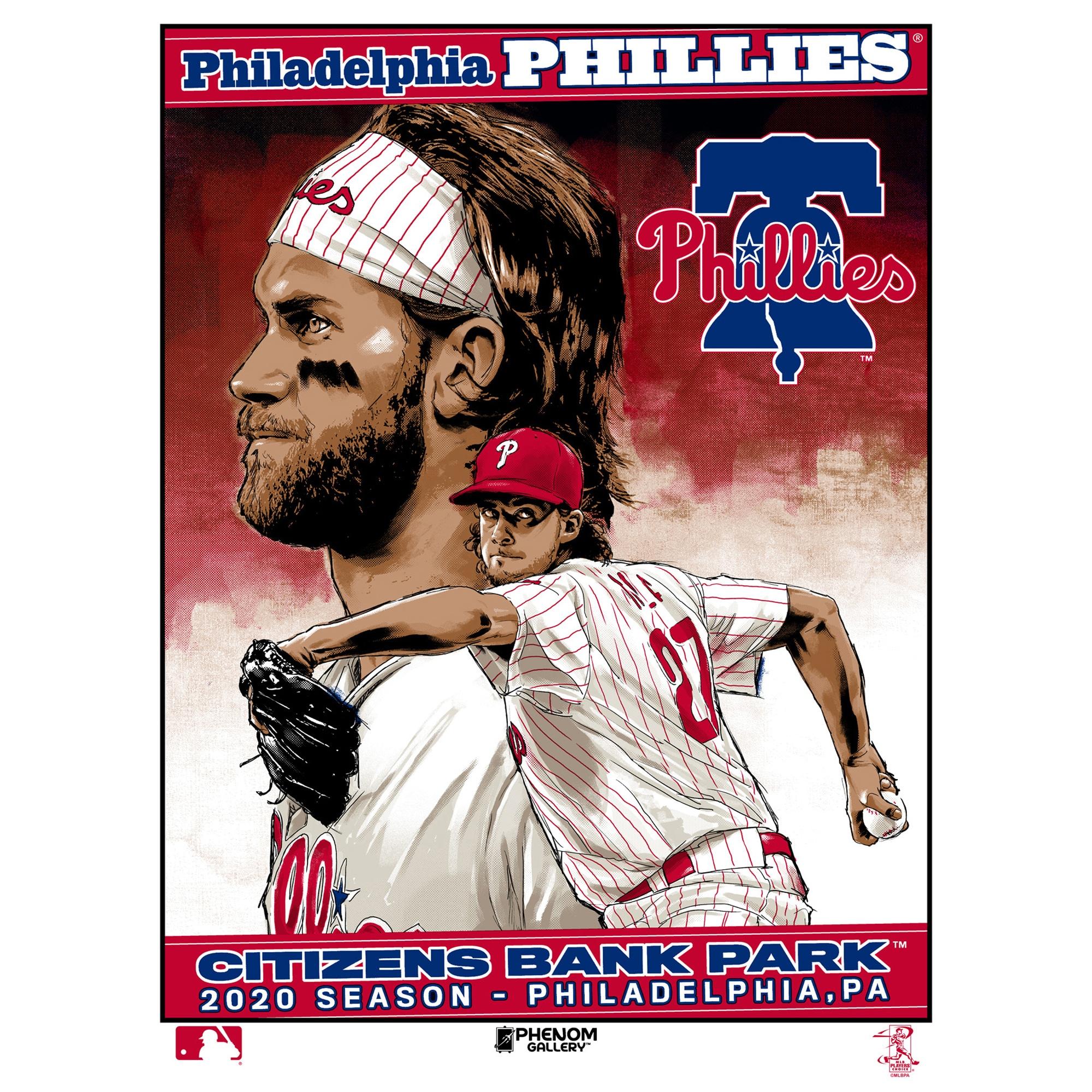 Philadelphia Phillies 18'' x 24'' 2020 Season Serigraph