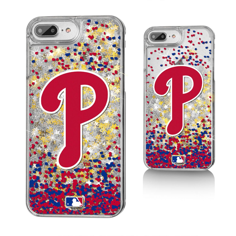 Philadelphia Phillies iPhone 6 Plus/6s Plus/7 Plus/8 Plus Sparkle Gold Glitter Case