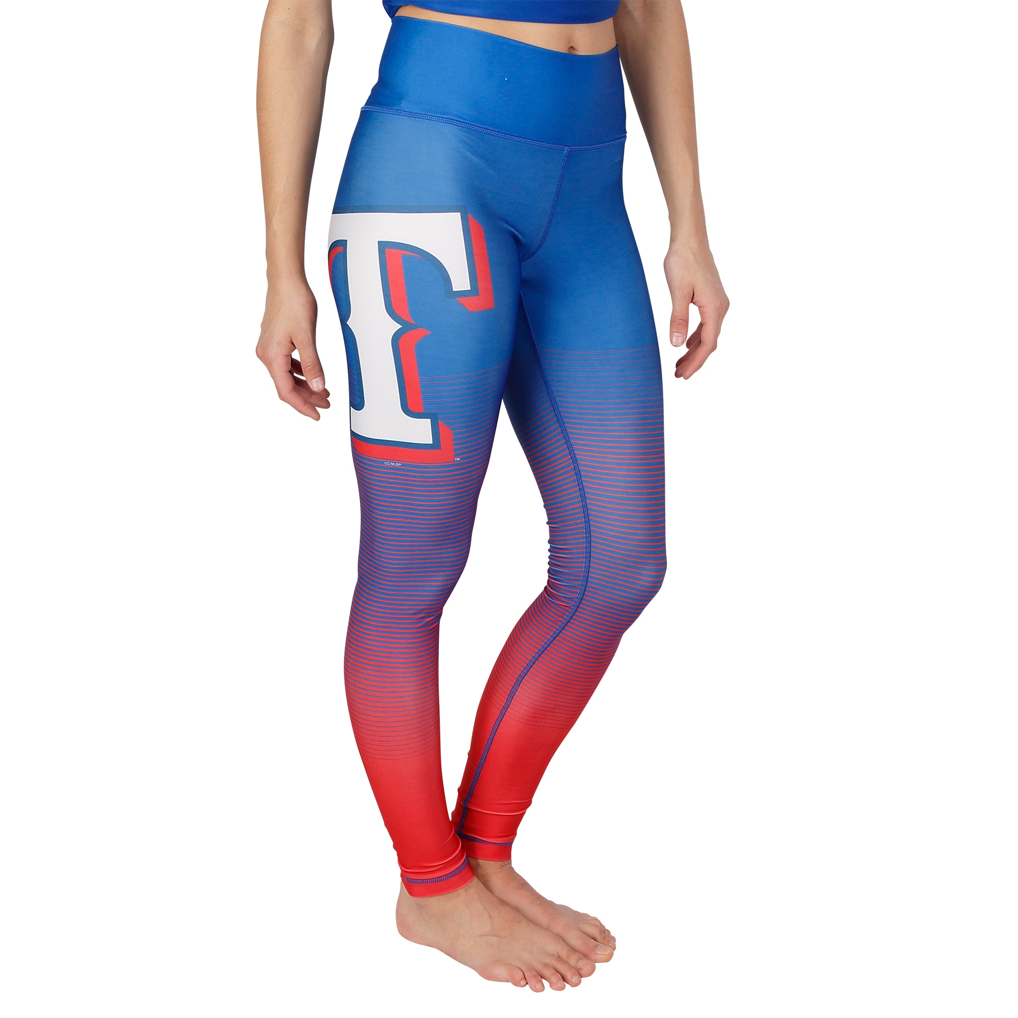Texas Rangers Concepts Sport Women's Fringe Sublimated Leggings - Royal/Red
