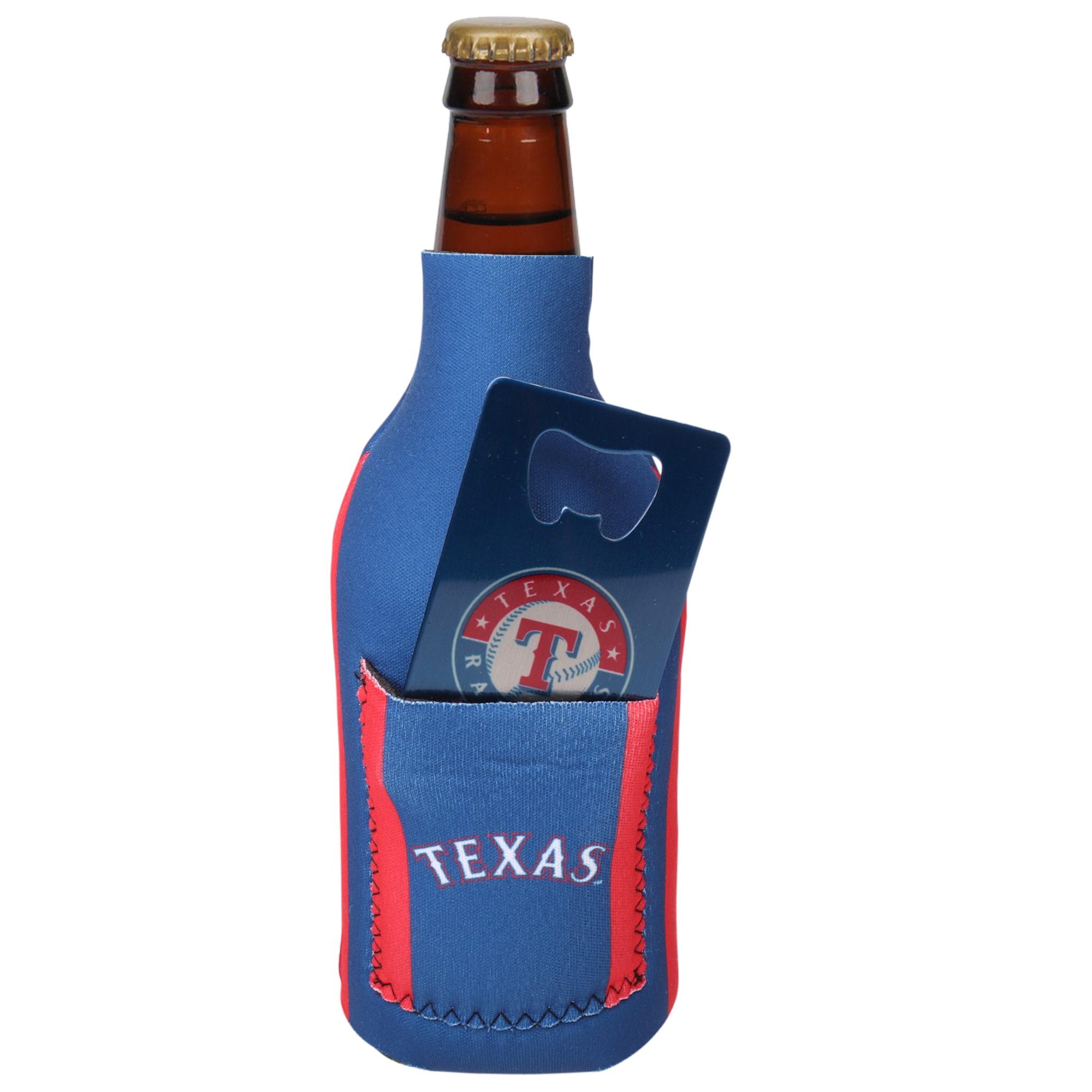 Texas Rangers Bottle Insulator with Pocket & Opener