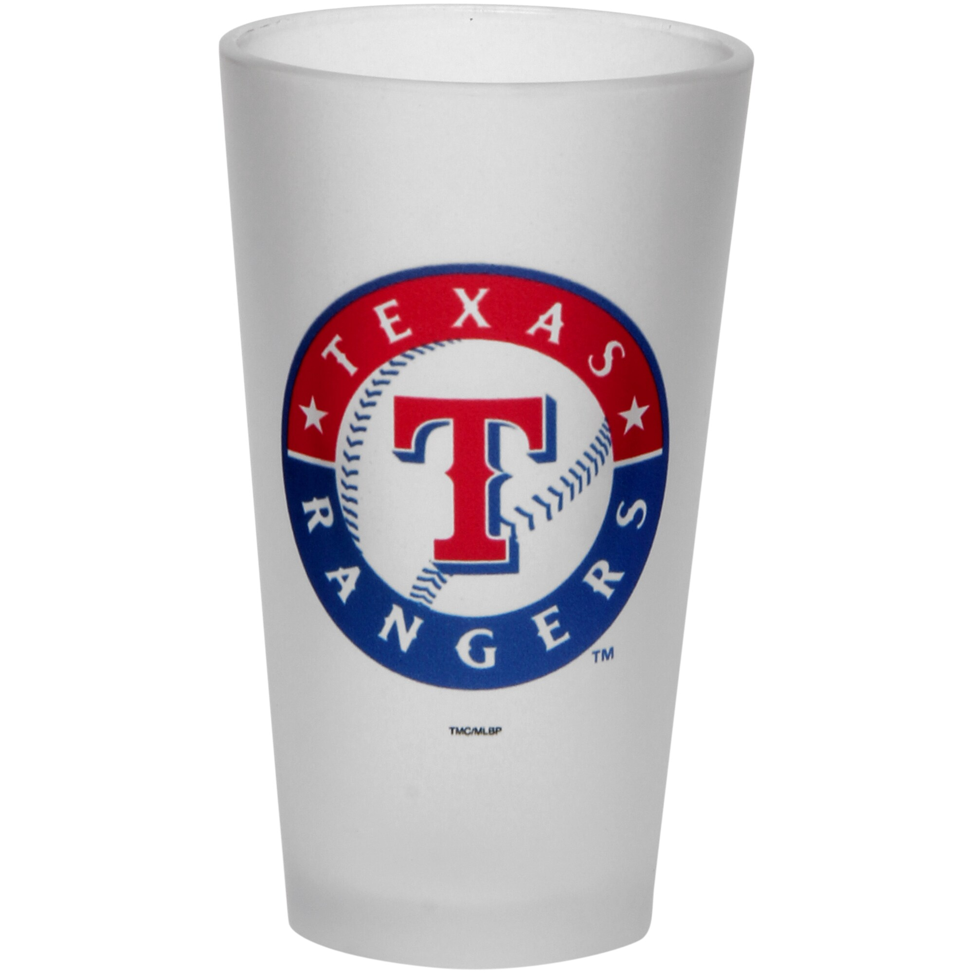 Texas Rangers Frosted Pint Glass