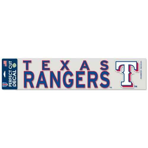 "Texas Rangers WinCraft 4"" x 17"" Die Cut Decal - Royal"