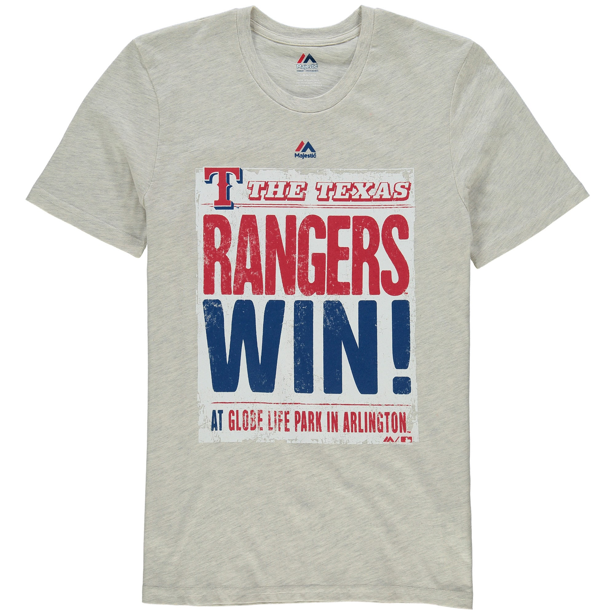 Texas Rangers Majestic Youth Front Page T-Shirt - Cream