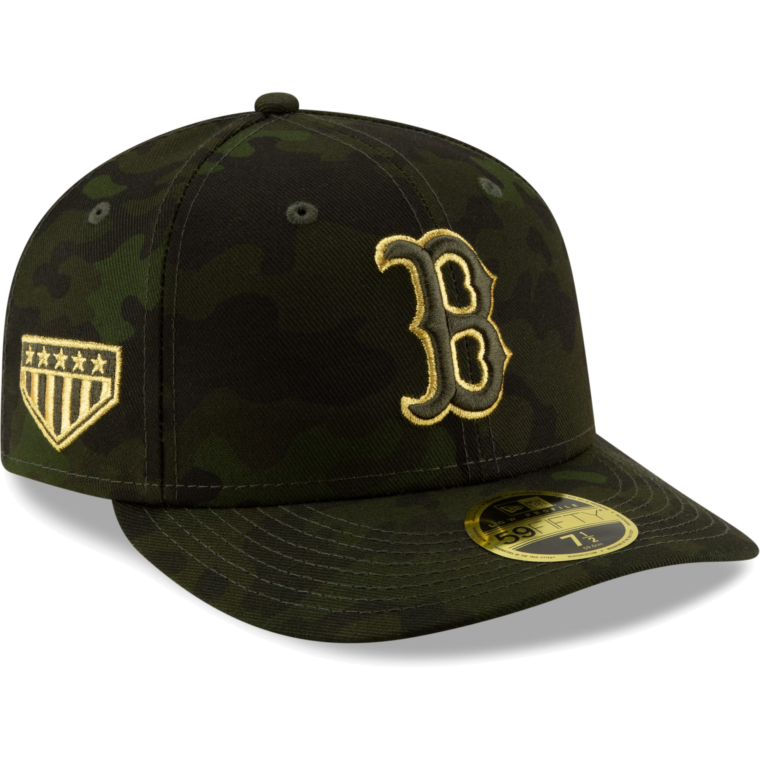 Boston Red Sox New Era MLB Armed Forces Day On-Field Low Profile 59FIFTY Fitted Hat - Camo