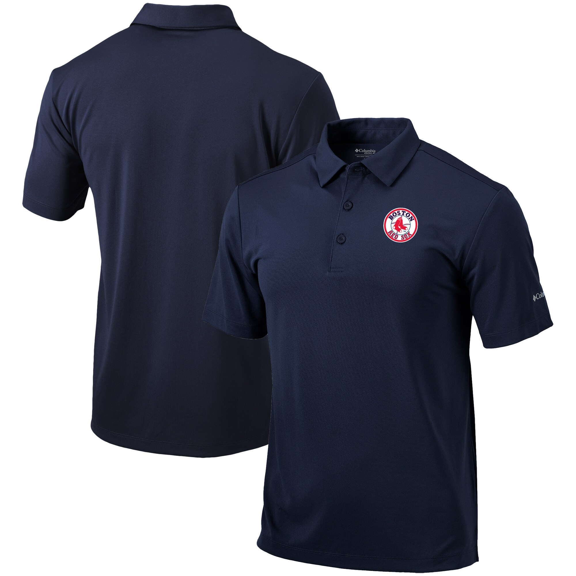 Boston Red Sox Columbia Cooperstown Collection Drive Omni-Shade Polo - Navy