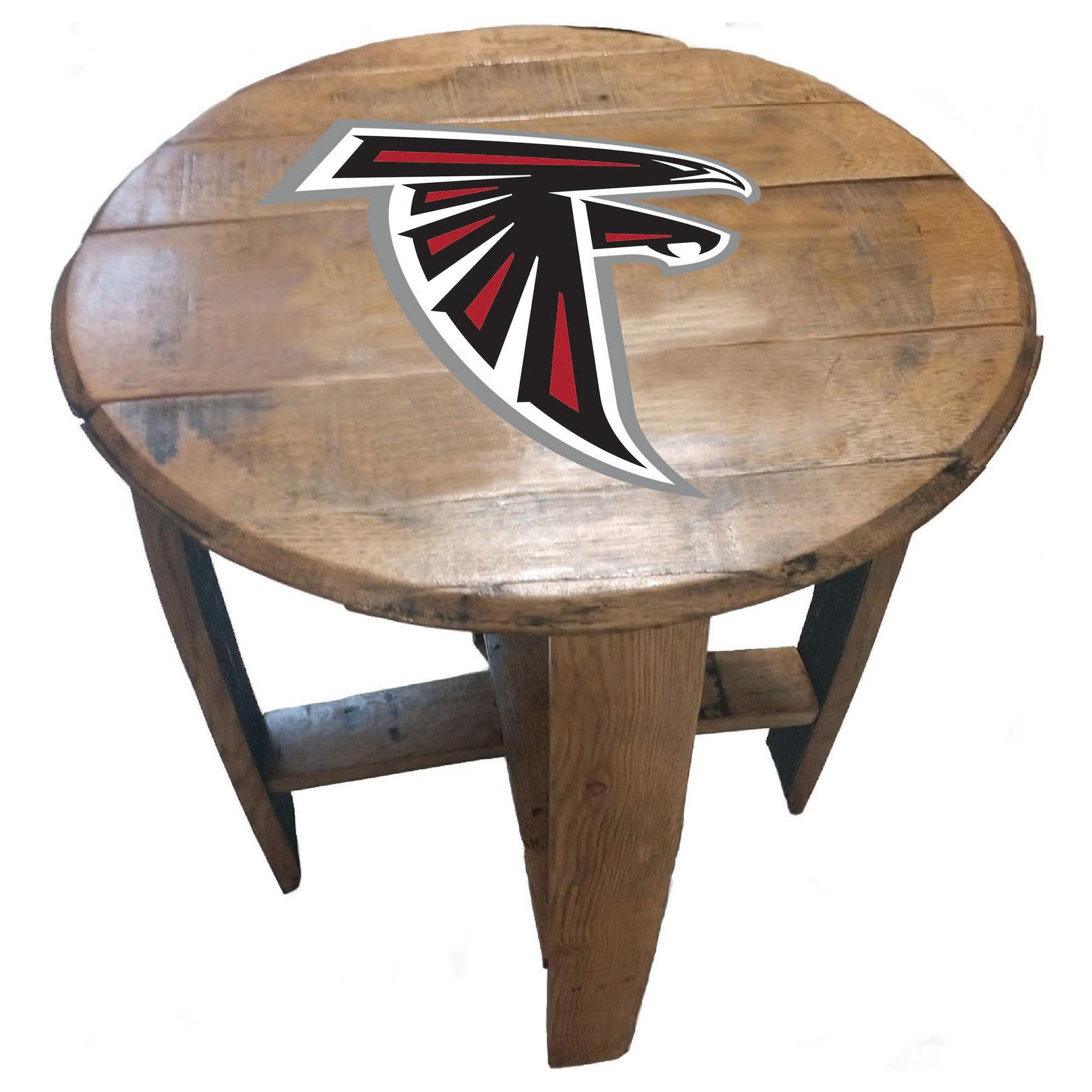 Atlanta Falcons Imperial Oak Barrel Table